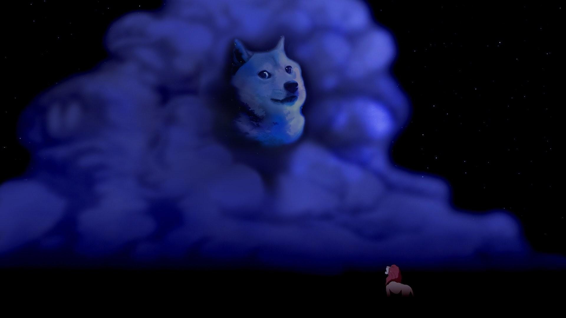 Lion King Clouds Night Doge Meme Dog disney wolf wolves fantasy wallpaper |  | 247995 | WallpaperUP