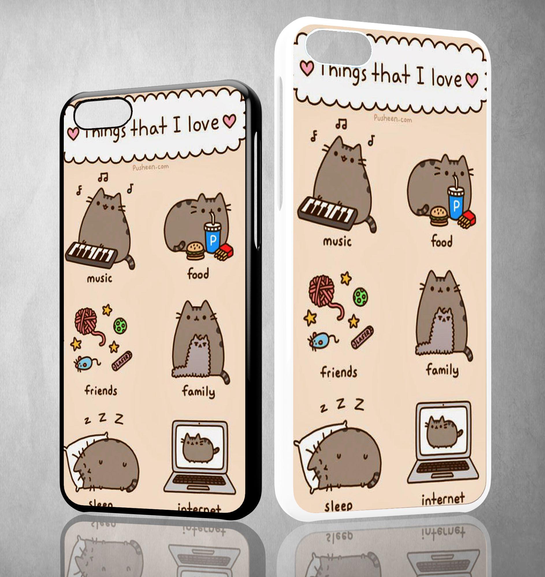 pusheen cat wallpaper Y0755 iPhone 4S 5S from velozcity.com