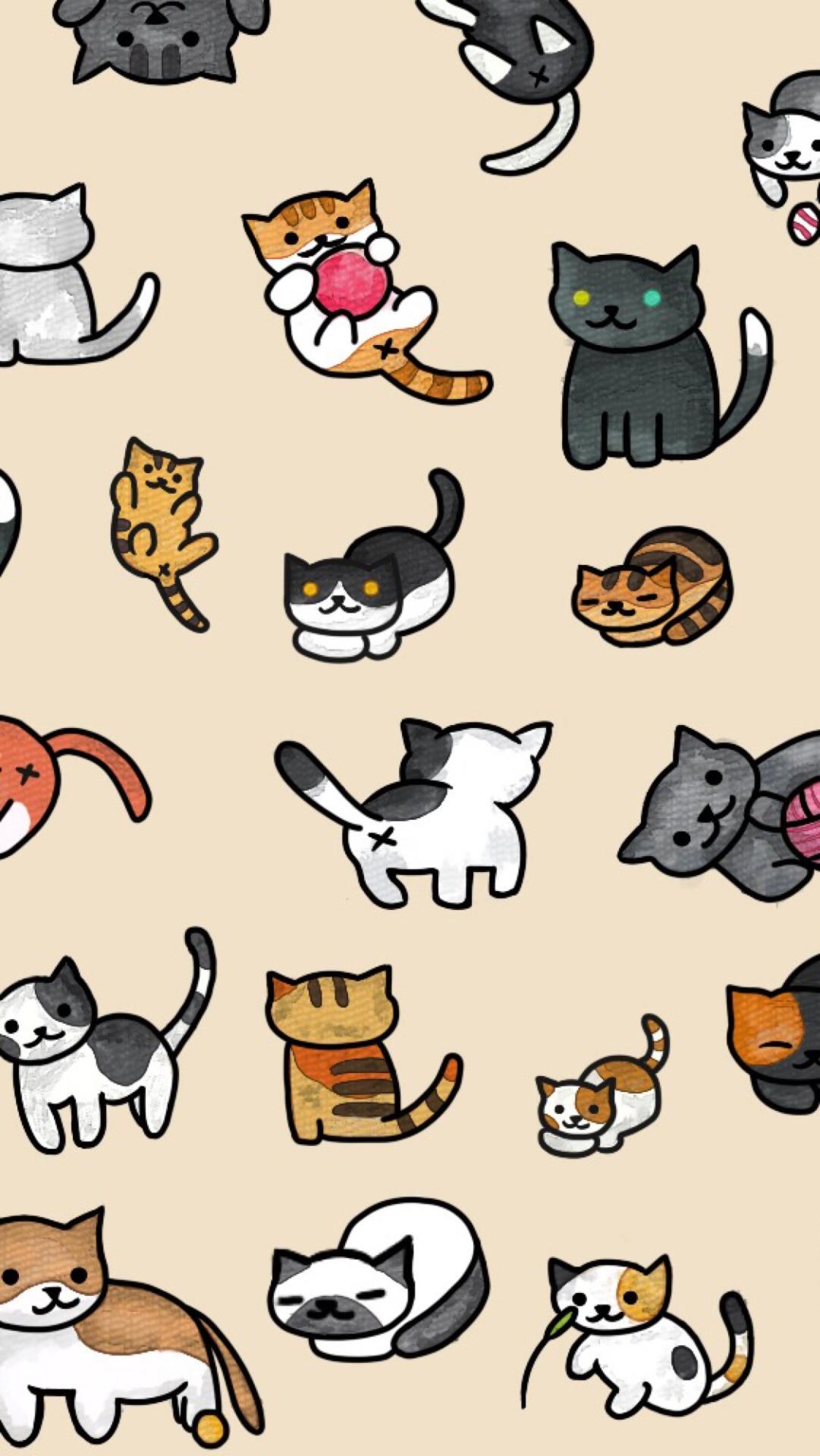 """lockscr33ns: """" neko atsume lockscreens✨ """" · Cat WallpaperCat …"""
