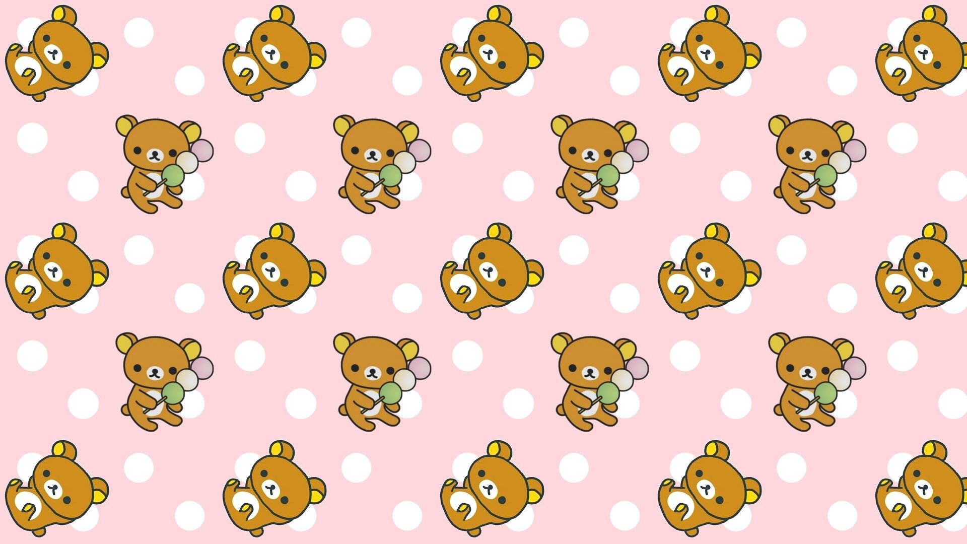Rilakkuma Cute Pattern Wallpaper
