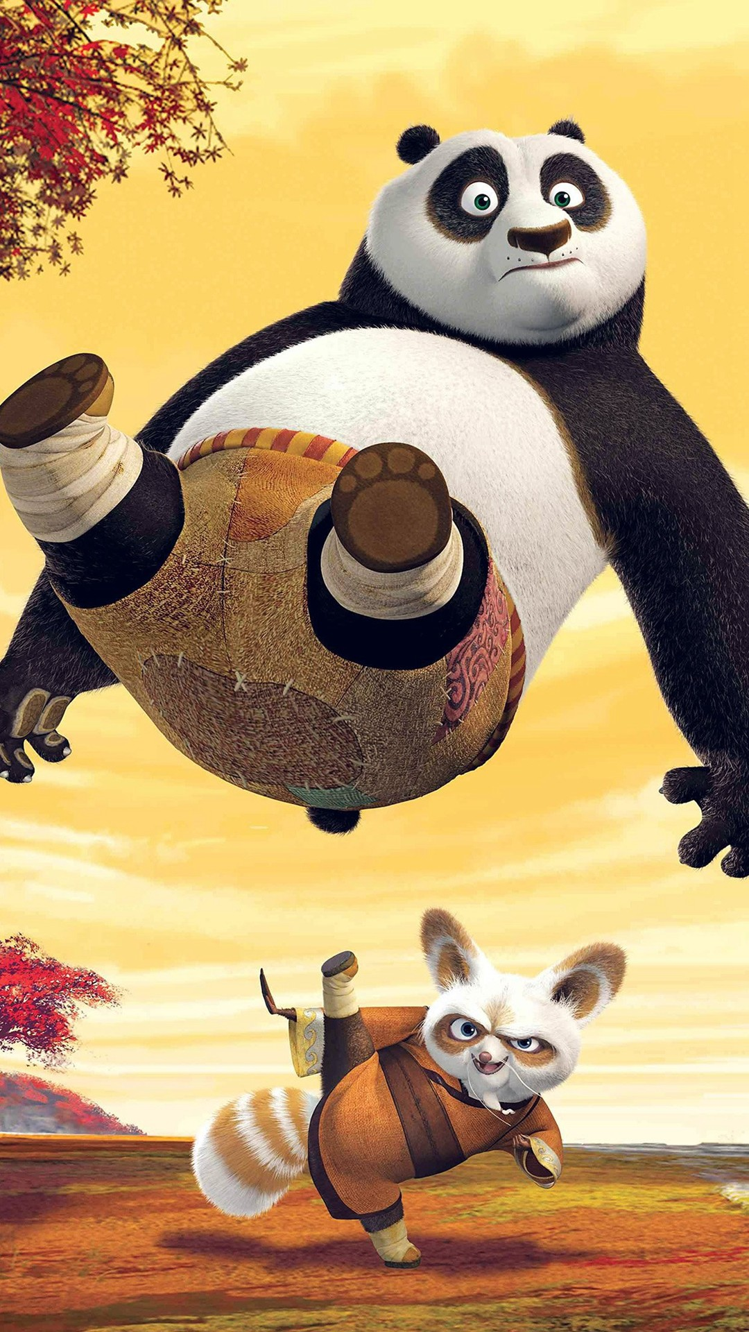 Kungfu Panda Dreamworks Art Kick Cute Anime #iPhone #6 #plus #wallpaper