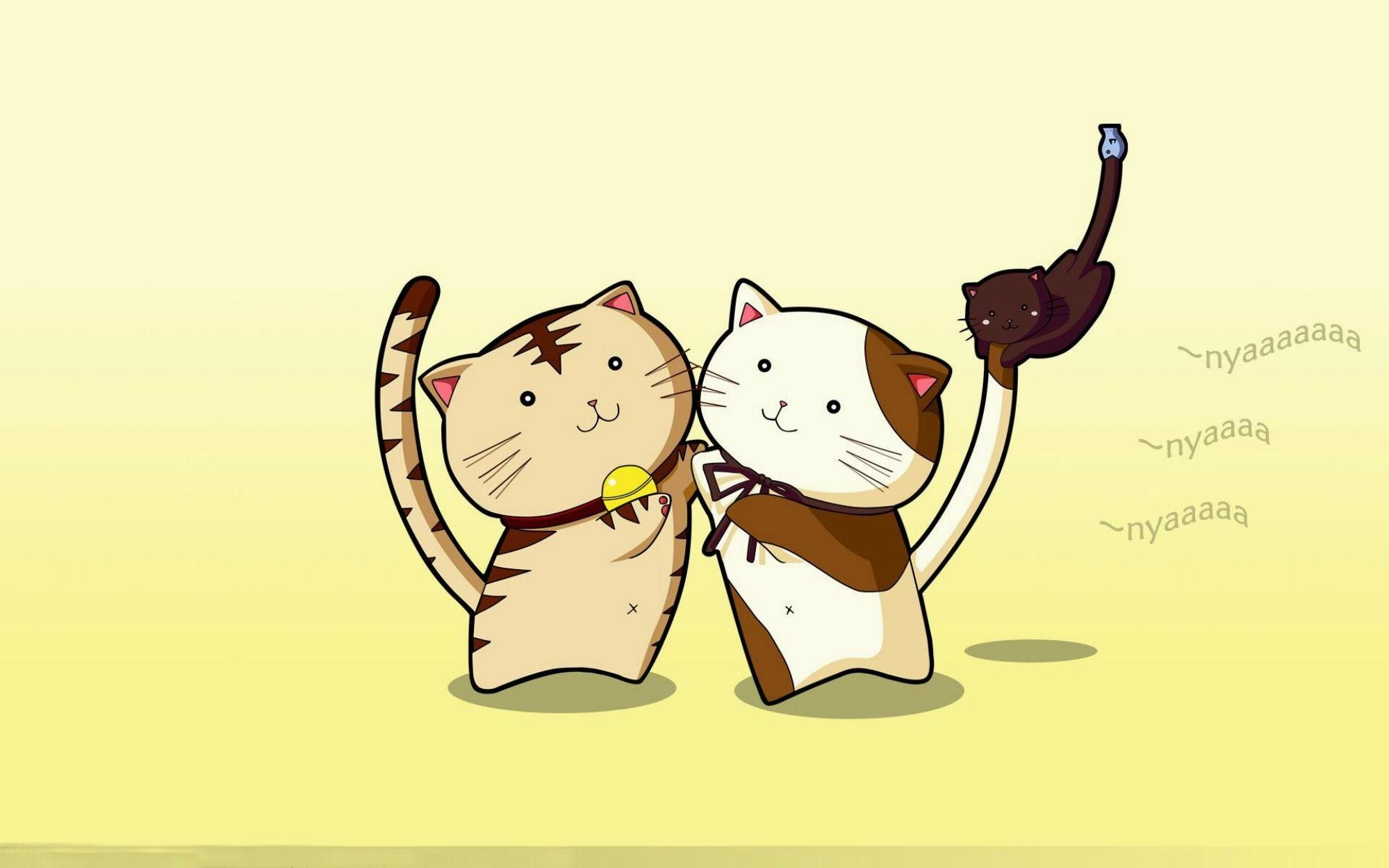 wallpaper.wiki-Image-of-Anime-Cat-HD-PIC-