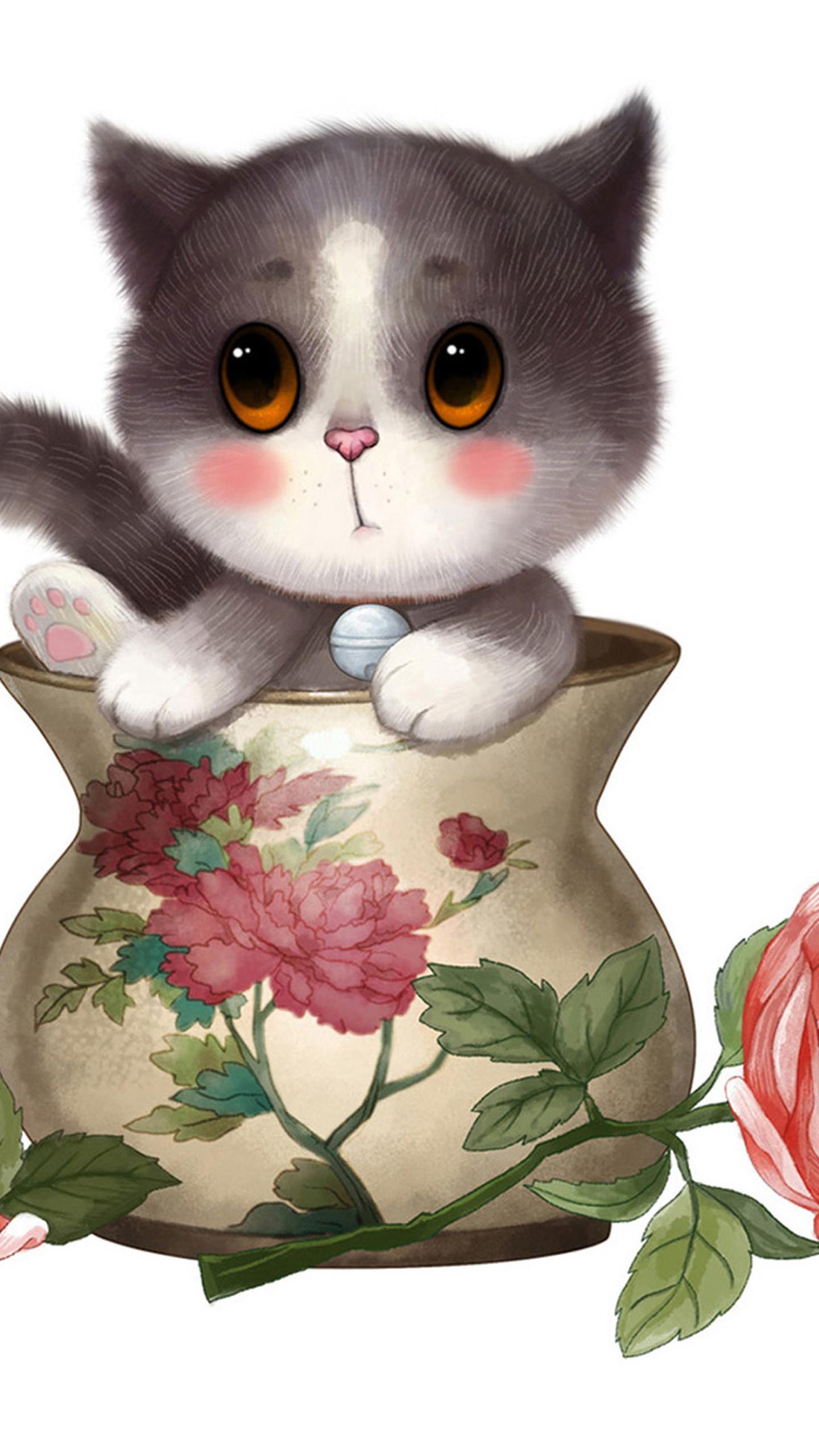 1920×1080 px; 6125958 Cute Cartoon Cat, LifeWallpapers Graphics