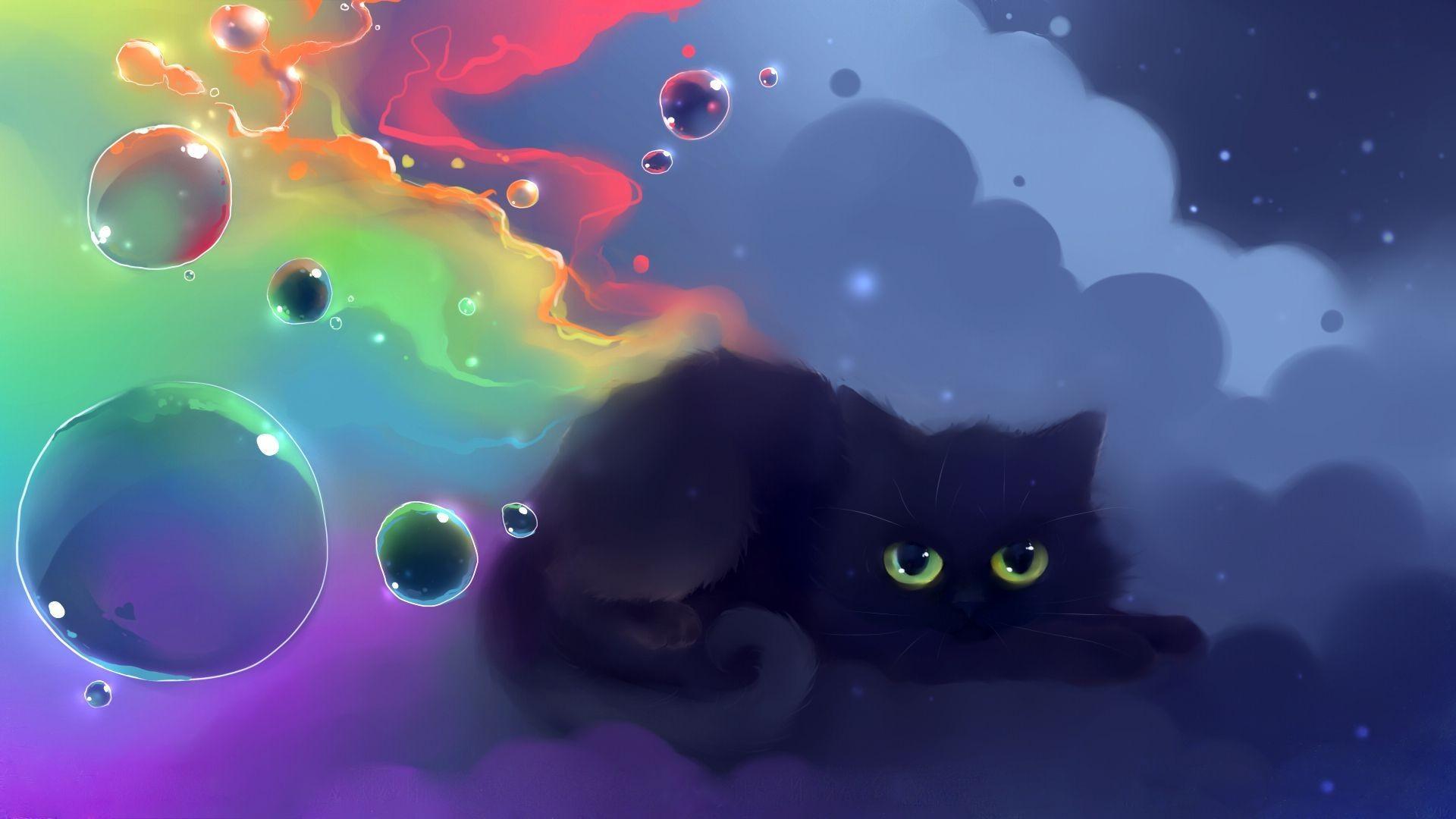 Cute Black Cat Wallpaper – HVGJ