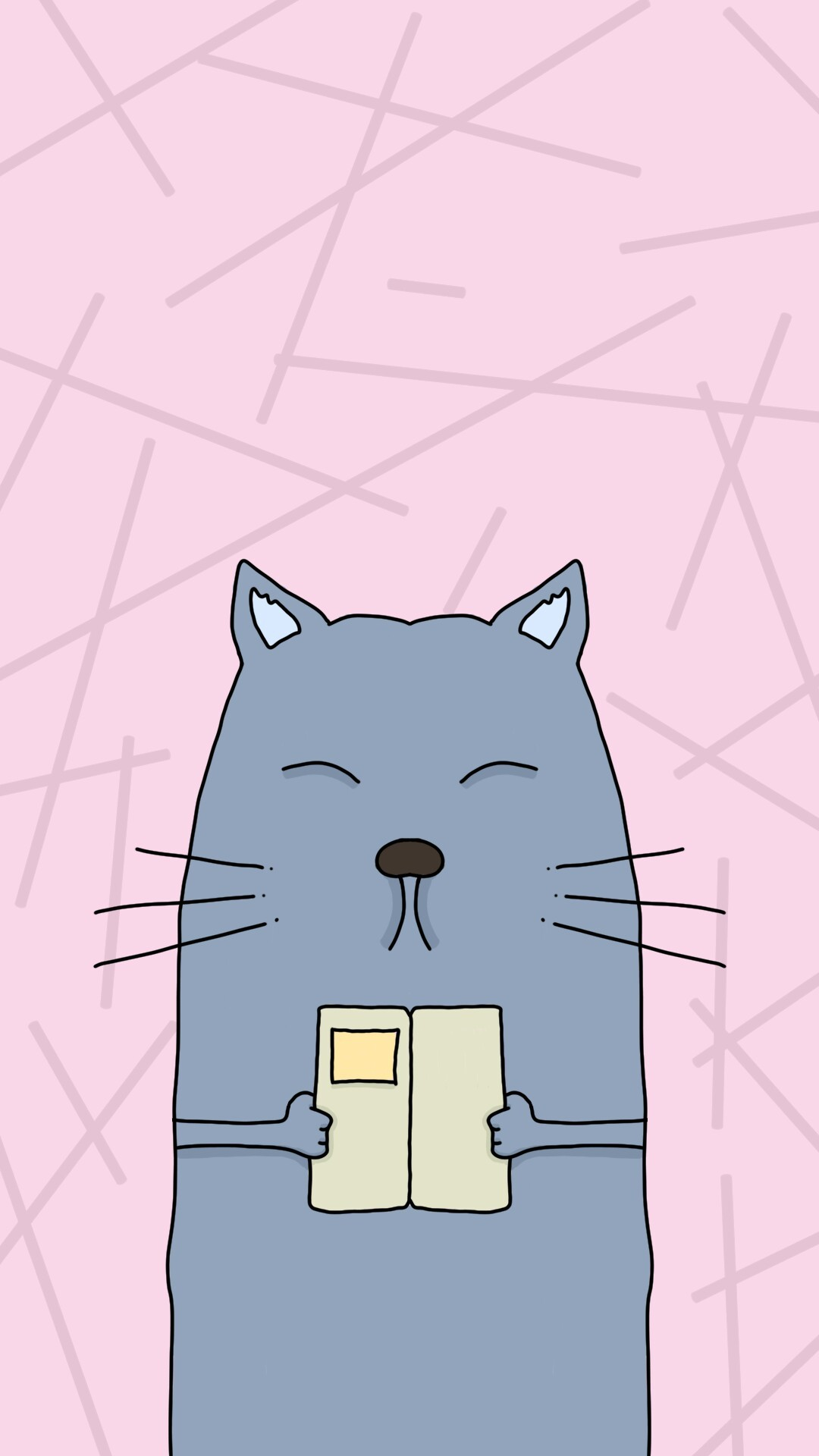 Smart cat #wallpaper #phone #iphone #vector #cartoon #drawing #grunge
