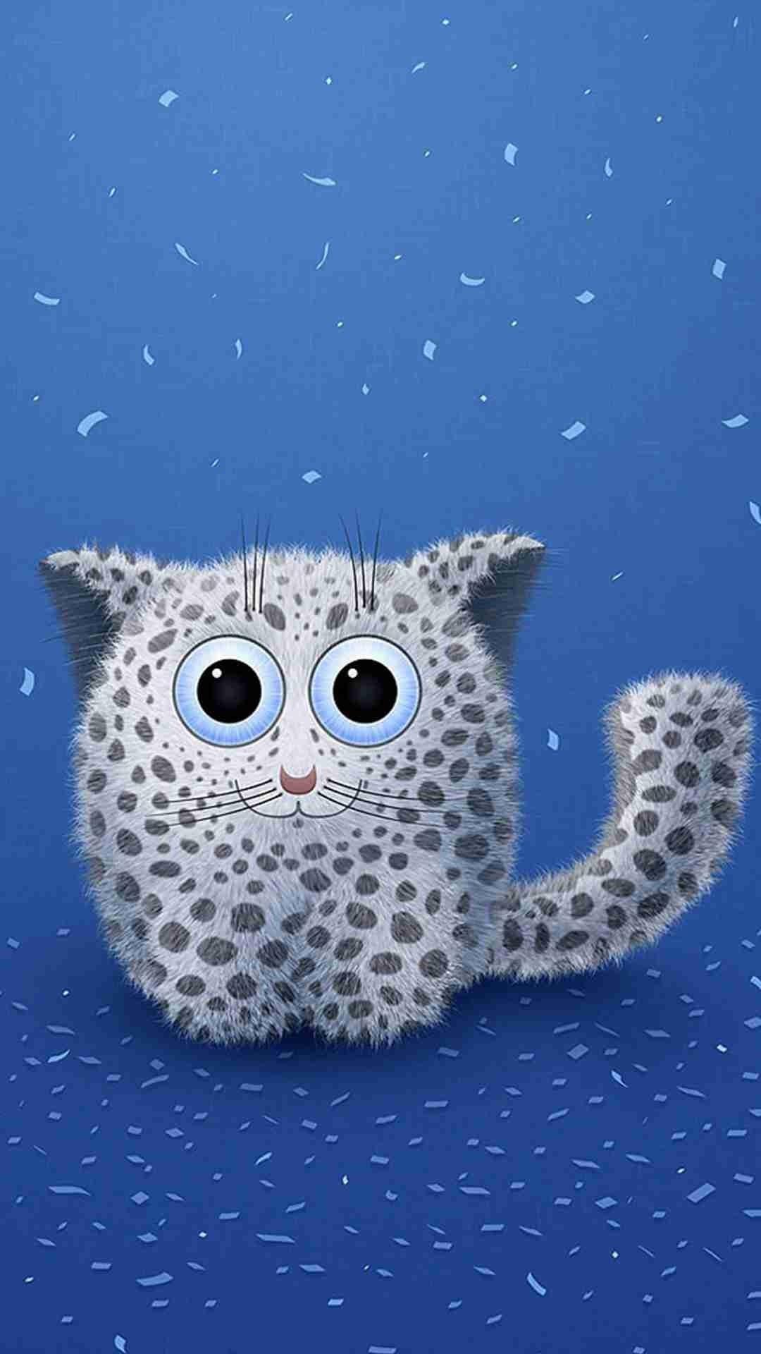 Cute Cartoon Polka Dot Cat iphone 6 Plus Wallpaper – Kitty .