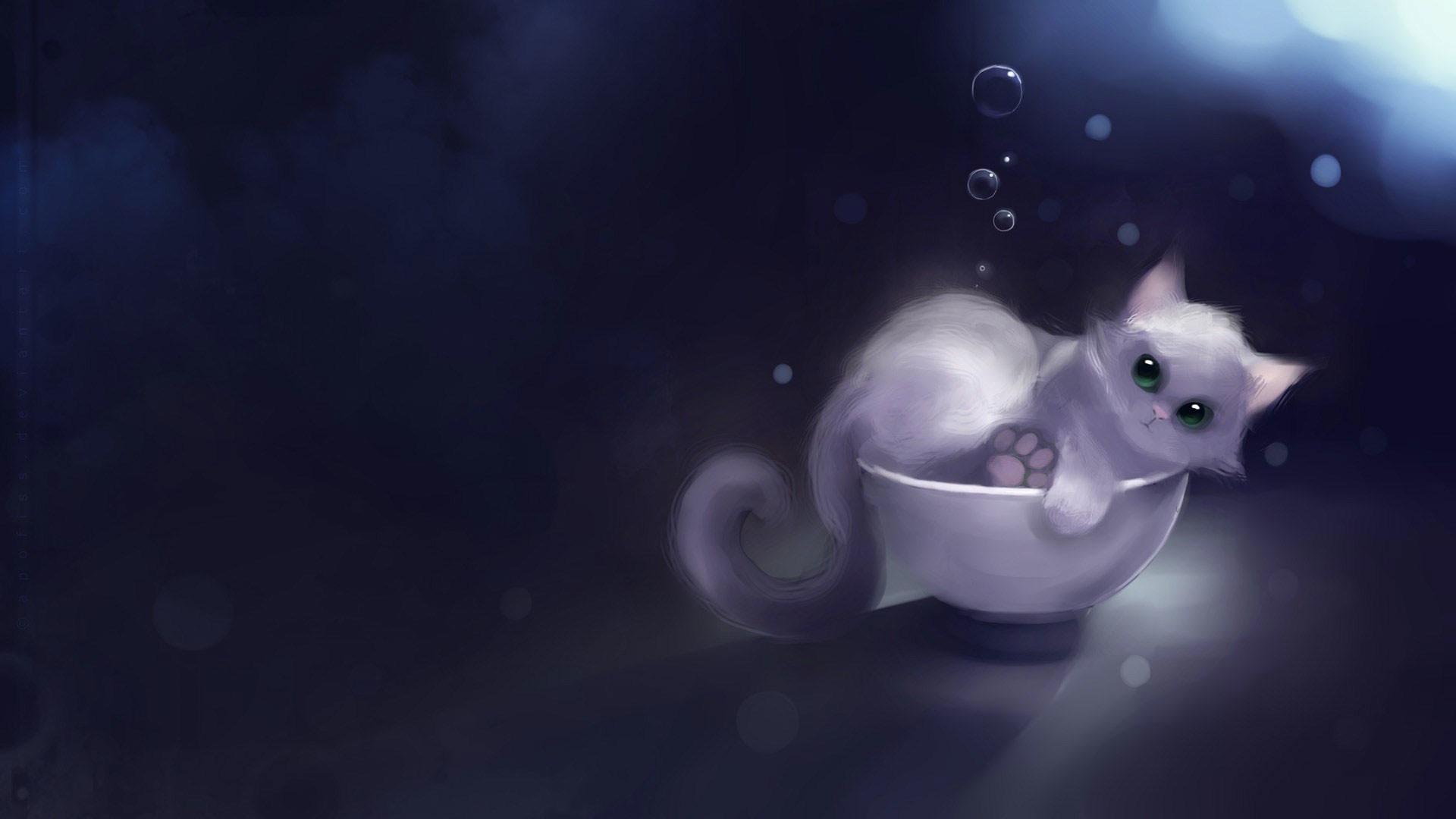 hd pics photos beautiful 2d animated cartoon cat hd quality desktop  background wallpaper
