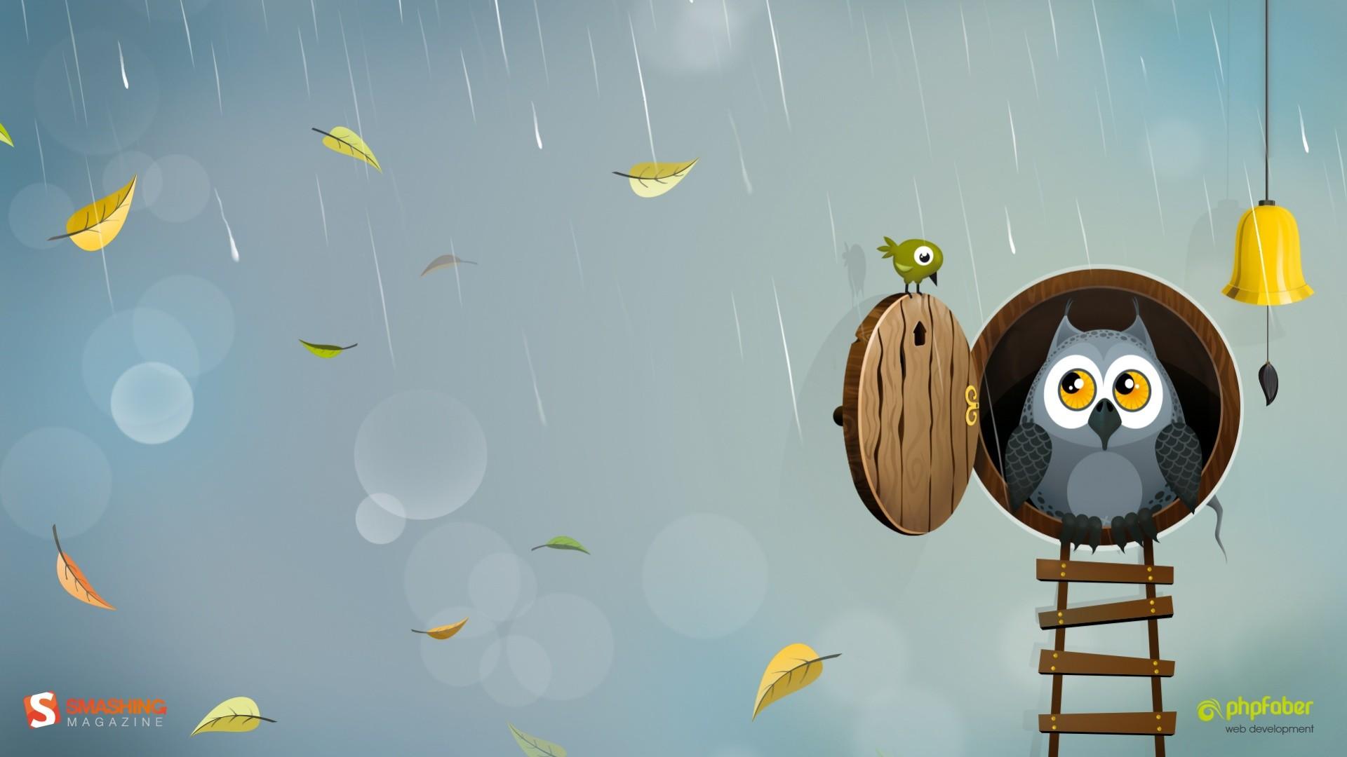 cute cartoon owl desktop wallpaper hd