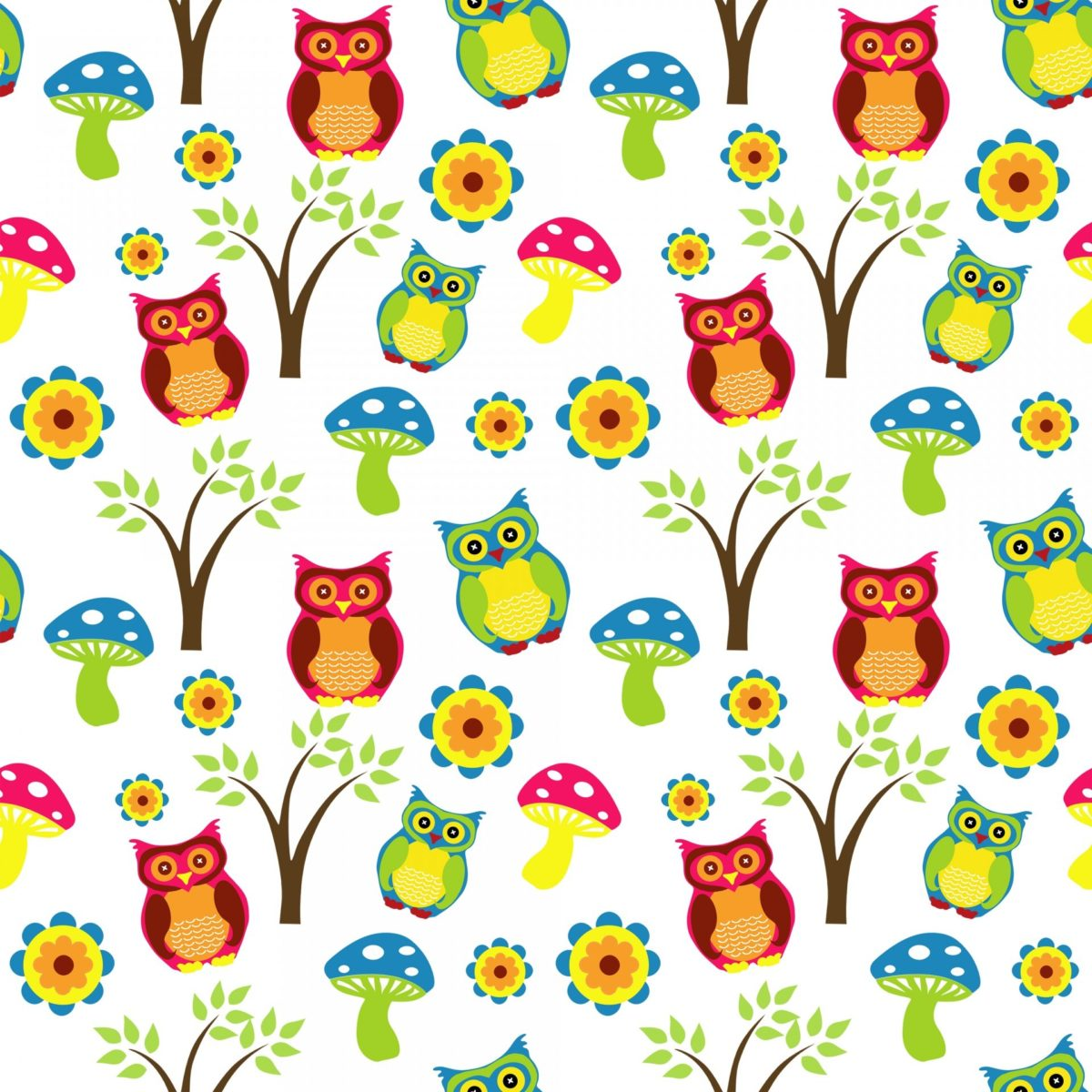 Cute Owl Wallpaper Pattern