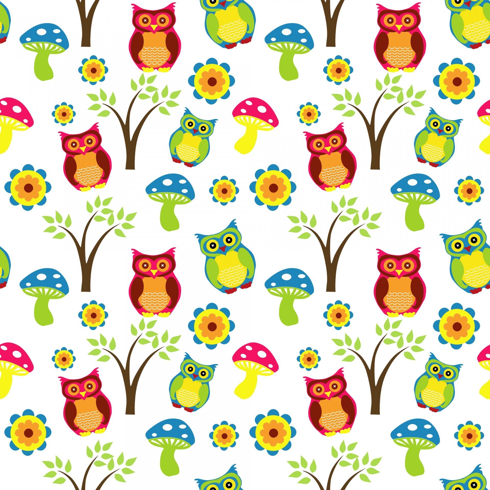 Cute Owl Wallpaper Pattern