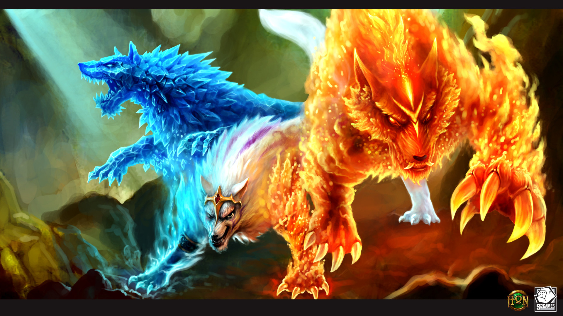 Blue Flame Wolf Live Wallpaper WallpaperSafari