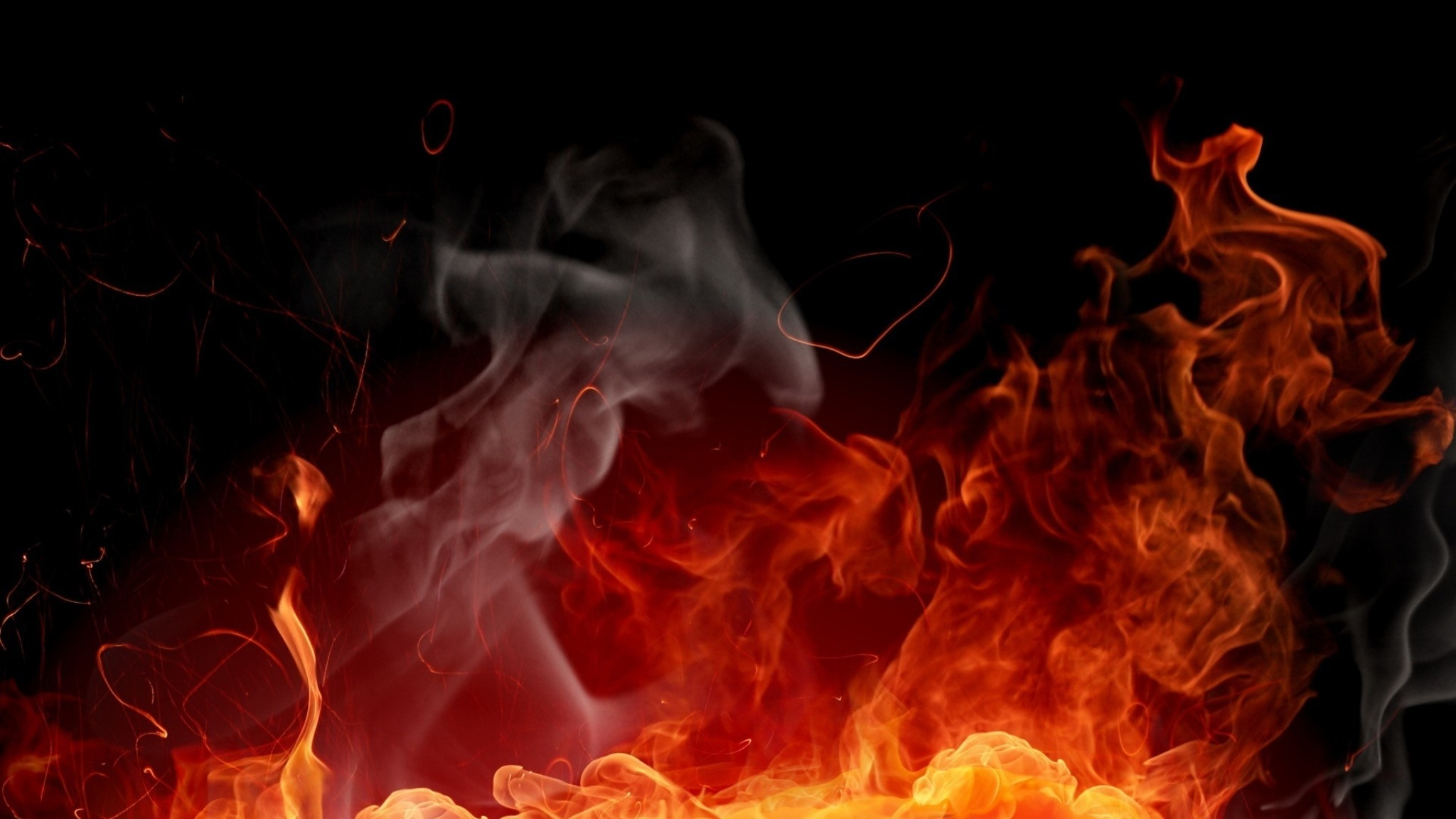 Preview wallpaper fire, background, color, abstraction 2048×1152