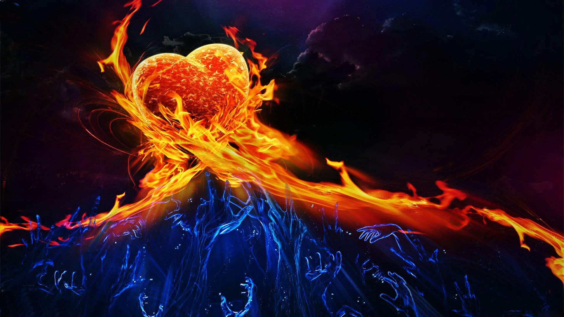 Fire And Ice Backgroun… …