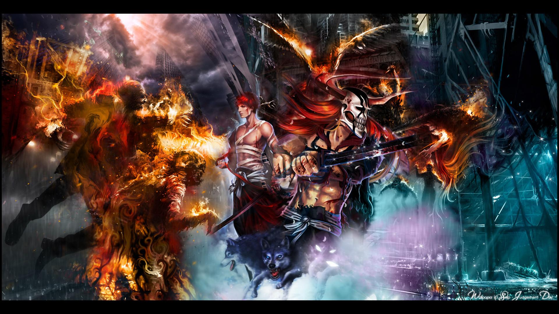 Animal bleach fire kurosaki ichigo red hair weapon wolf wallpaper      72837   WallpaperUP