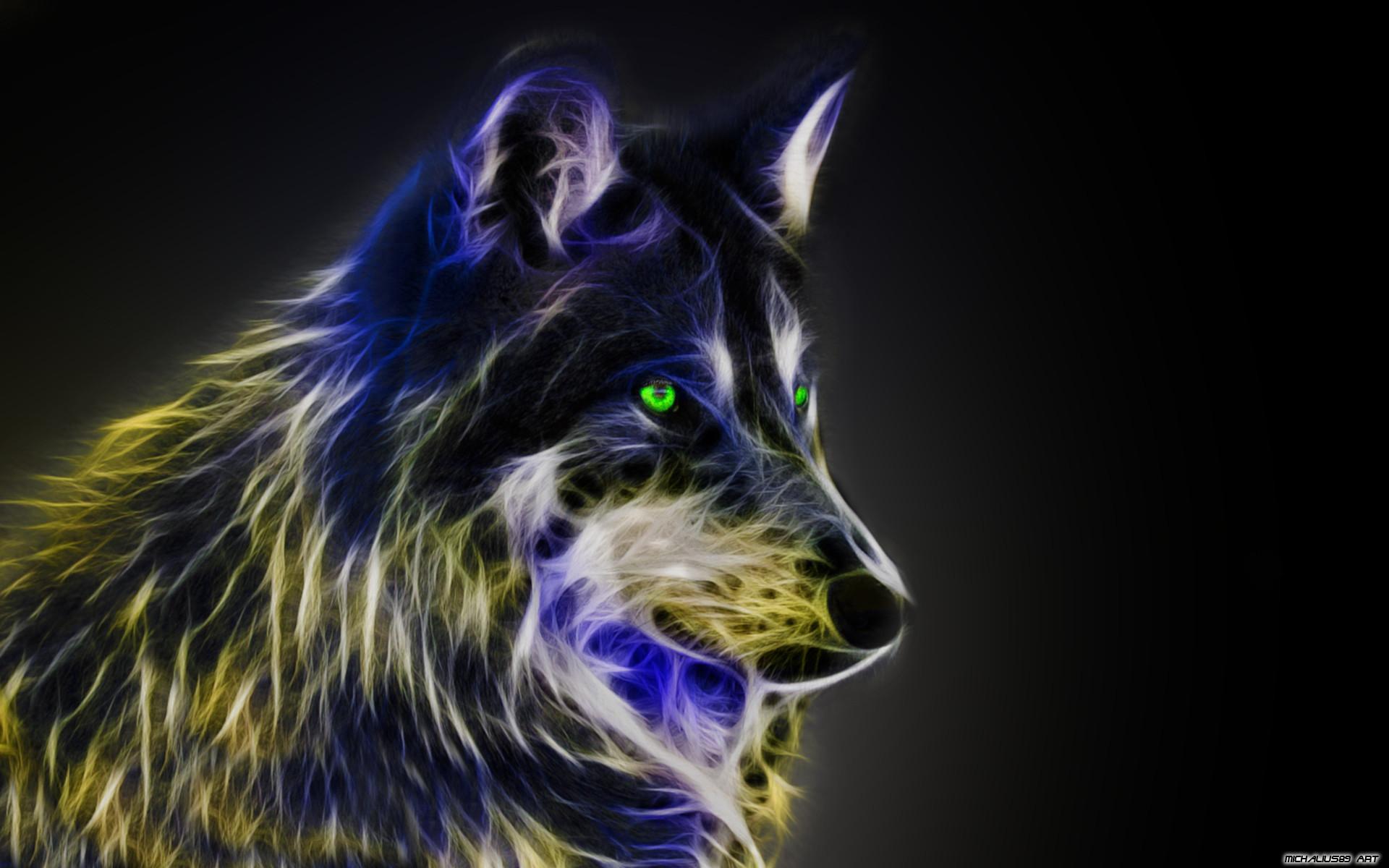 Cool Animal Wallpaper Light Wolf Cool wolf back…