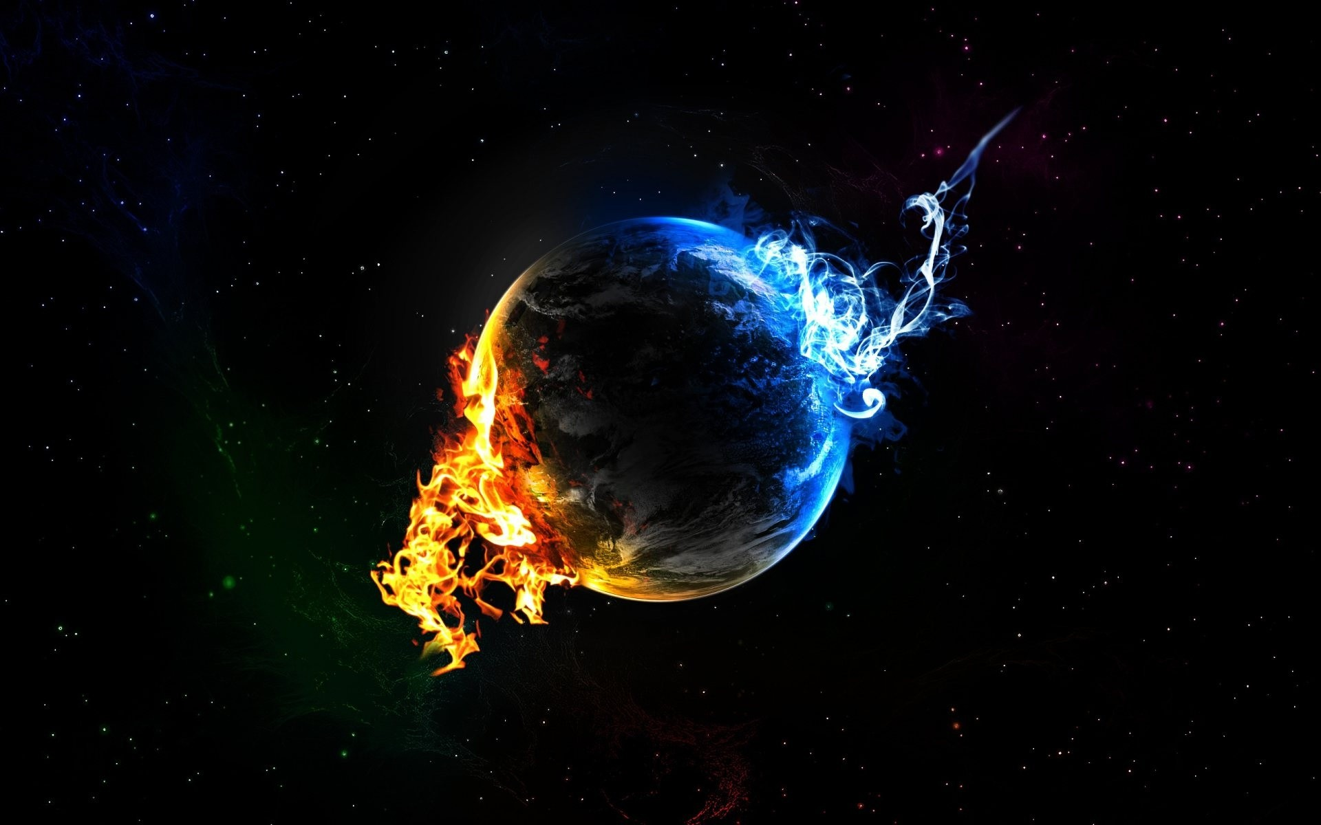 Fire And Ice Wallpaper Desktop Background