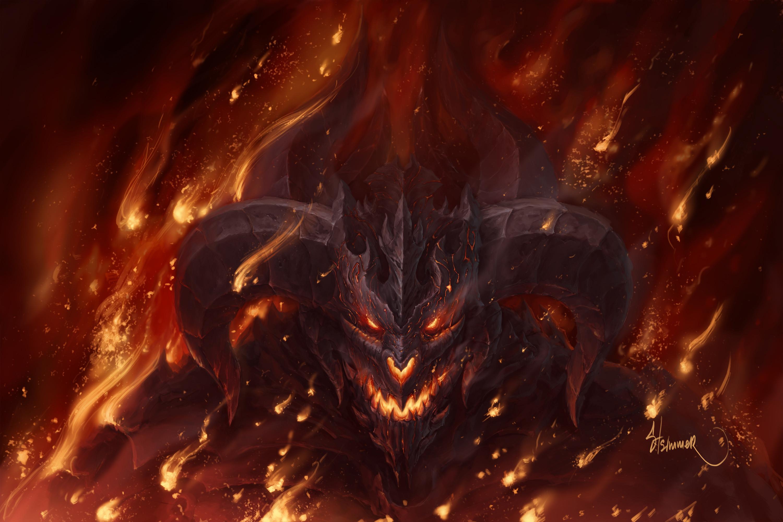 Fire Demon Wallpaper For Desktop Wallpaper 3000 x 2000 px MB shadow  demoness hell fire angels wolf iphone dragon