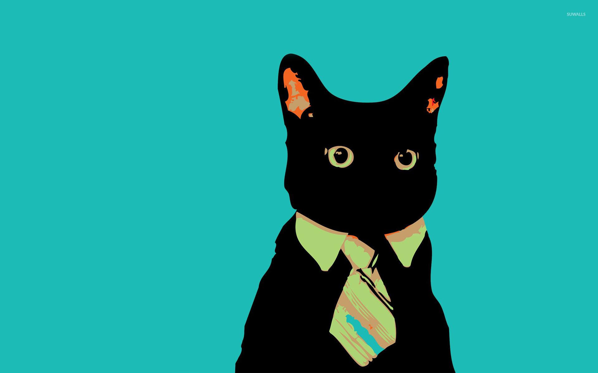Bussines cat wallpaper jpg
