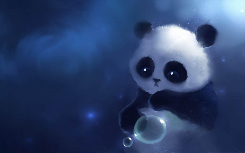 Sad Cute Panda Cartoon Wallpaper