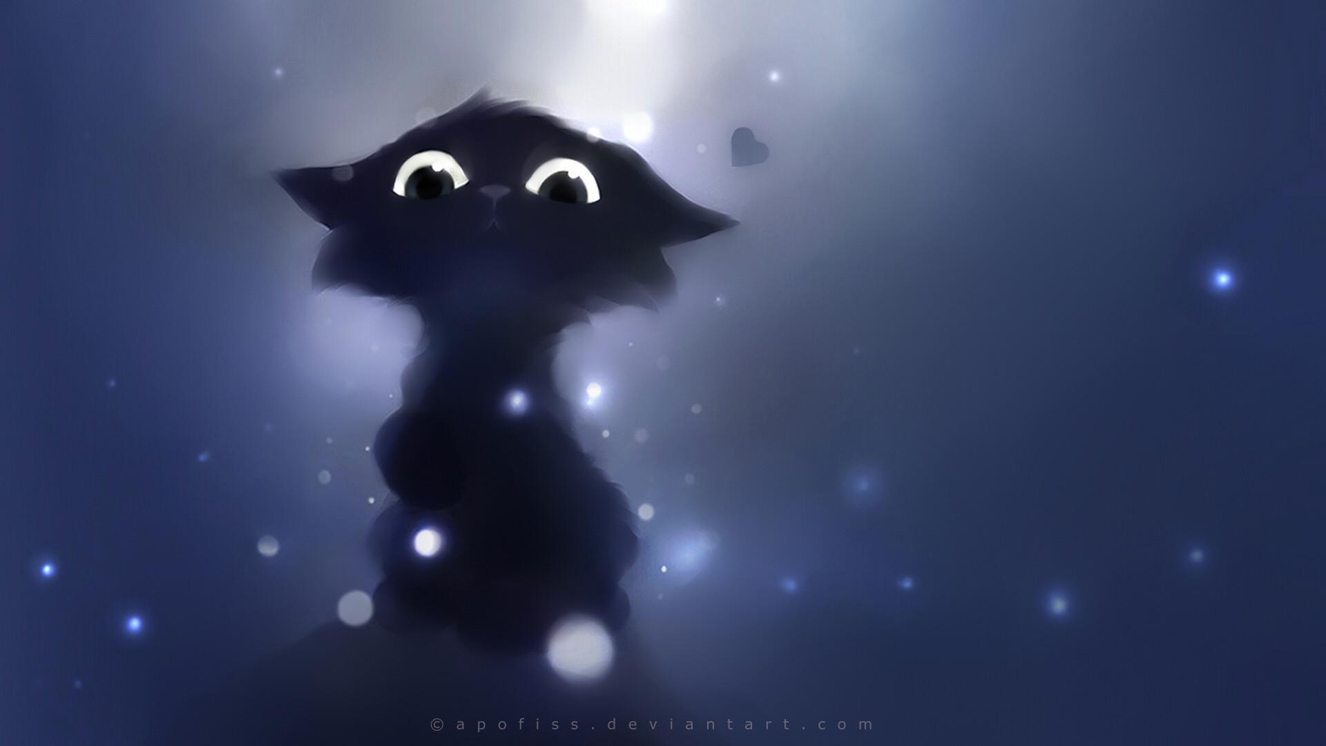 pictures of fantasy cats | cartoon cute animals fantasy eyes pov apofiss  cats kittens wallpaper .