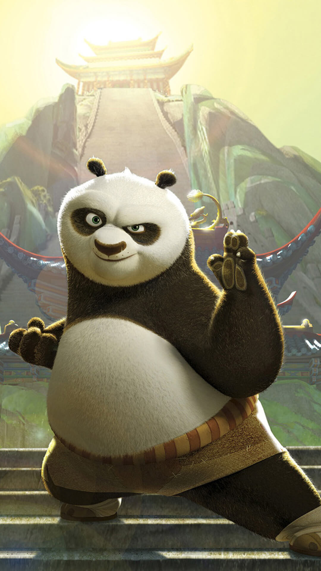How to download Cartoon Kunfu Panda iPhone wallpaper HD:-