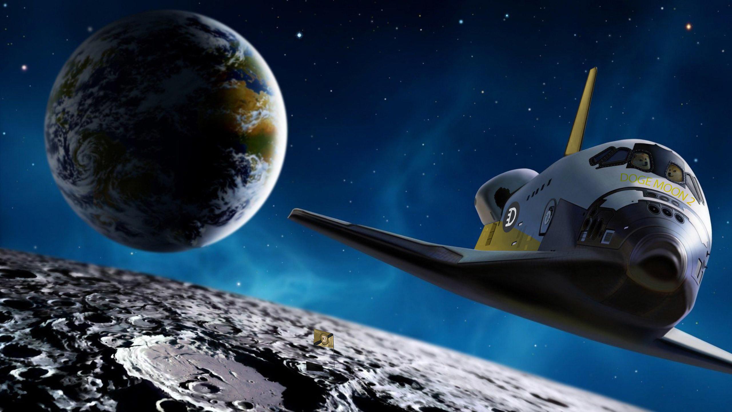 Doge moon mission V2 Wallpaper …