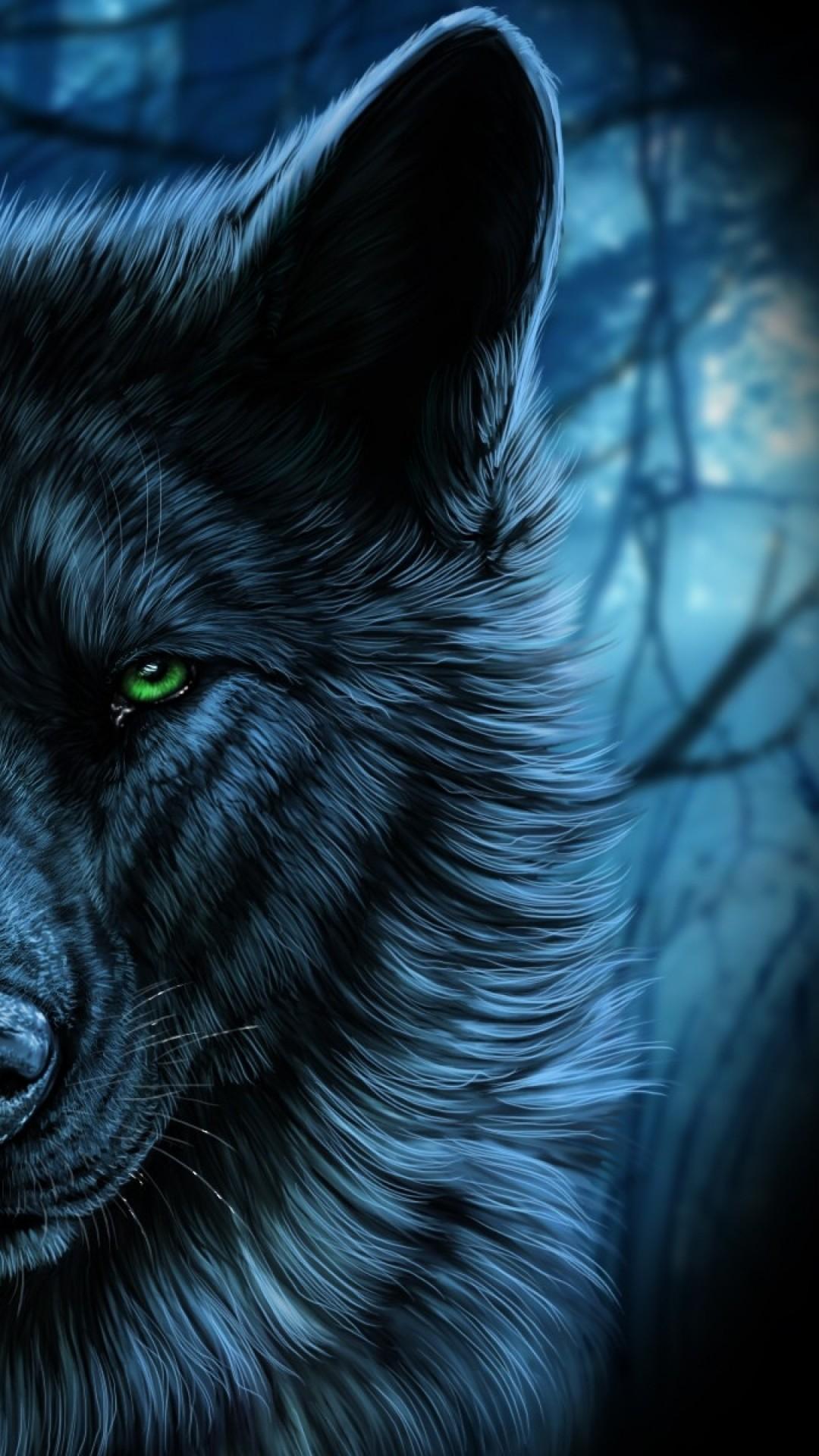 Starry Wolf Wallpaper