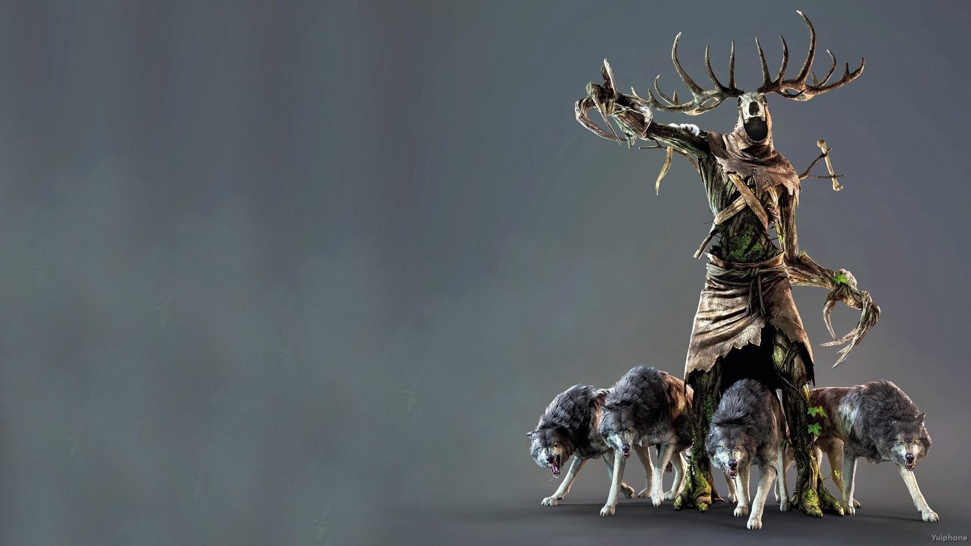 WITCHER 3 fantasy warrior monster dark creature wolf wolves wallpaper .