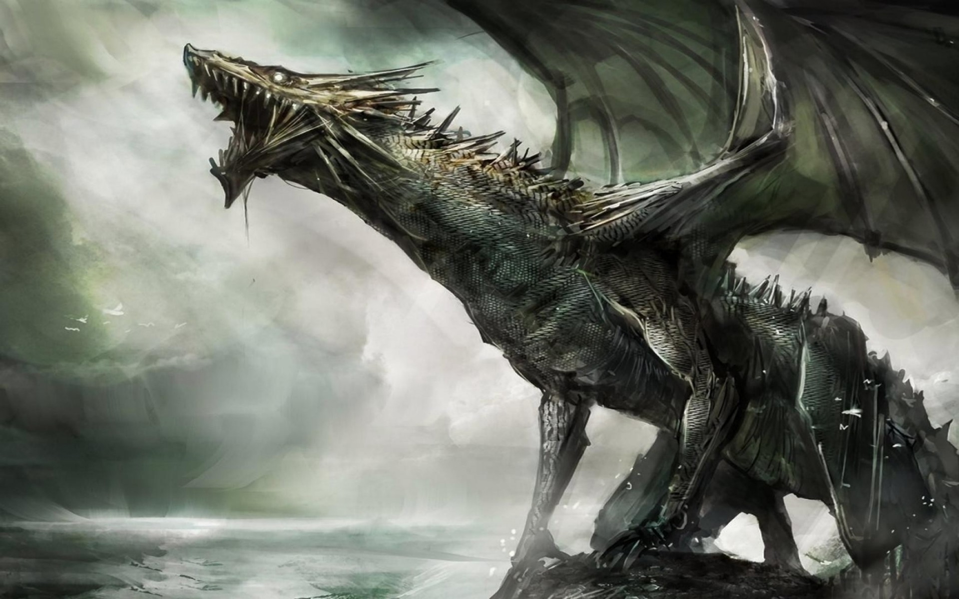 Scary Dragon Spines Wallpaper