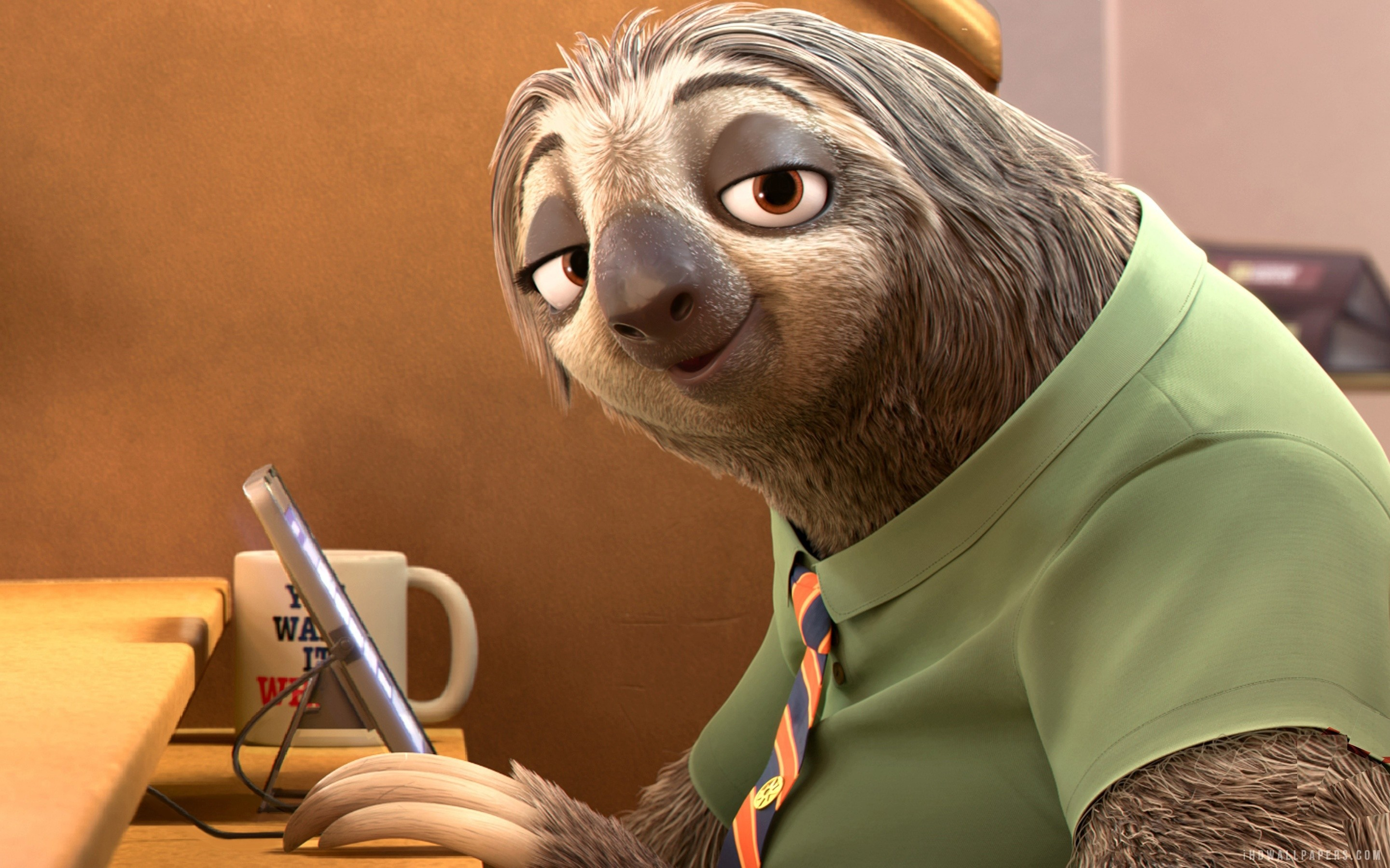 … Sloth in Zootopia Movie HD Wallpaper | iHD Wallpapers