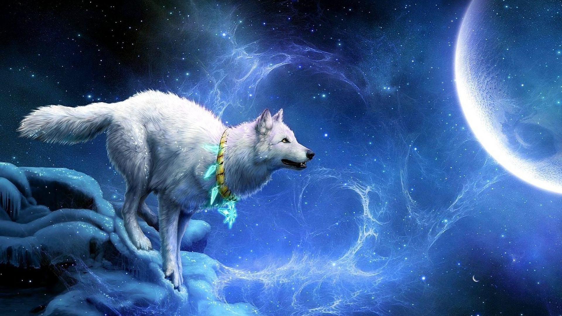 Wolf Breakage Wallpaper