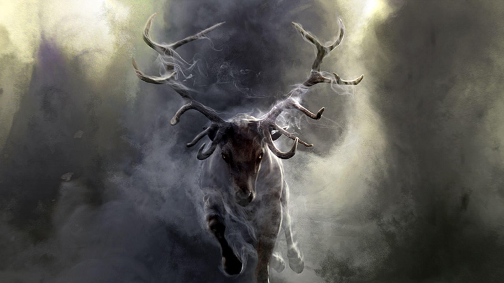 Smoke Tag – Fog Dark Paintings Art Nature Smoke Deer Picture Hd Animals for  HD 16