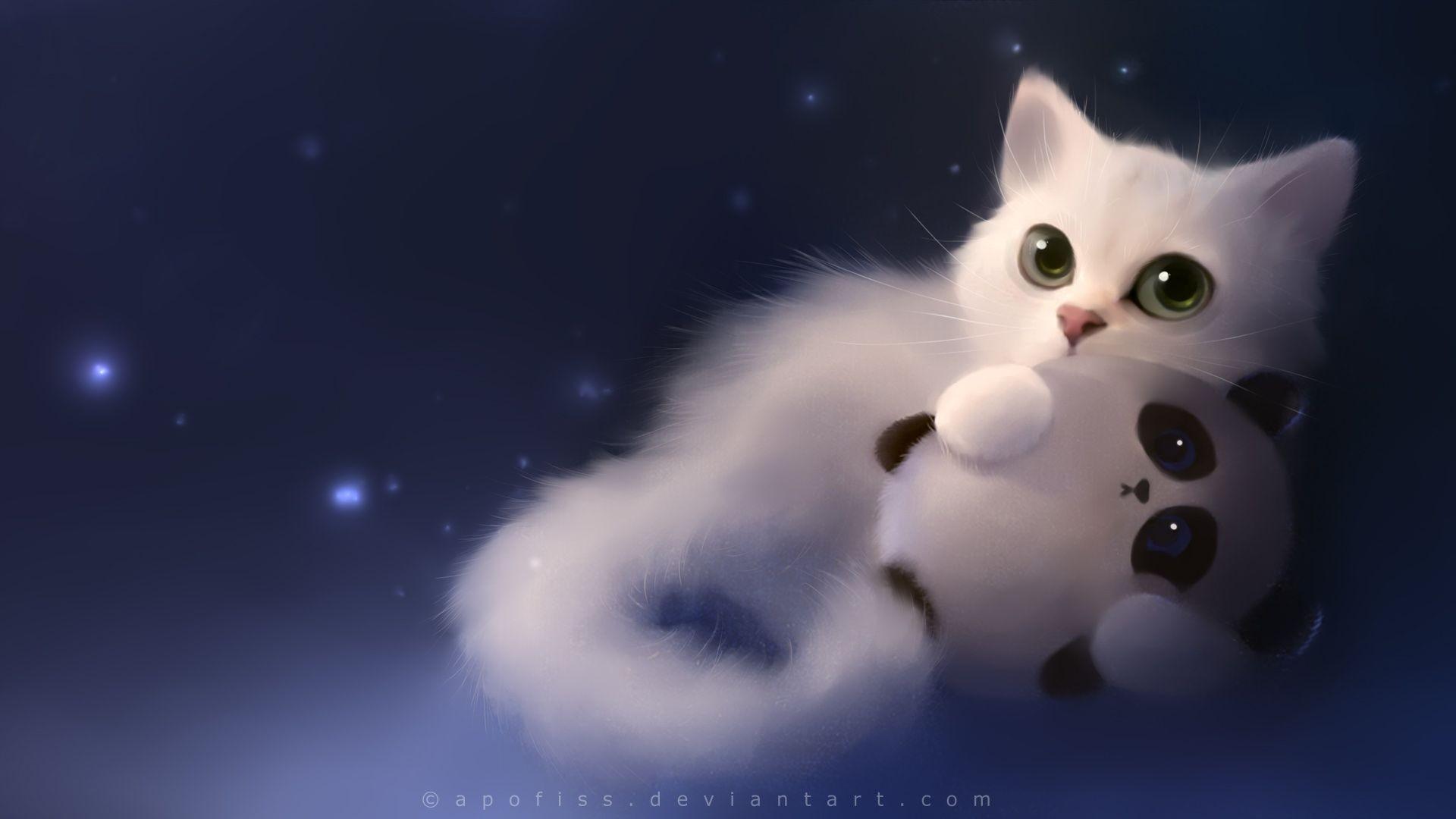 Cute Anime Cat Wallpaper