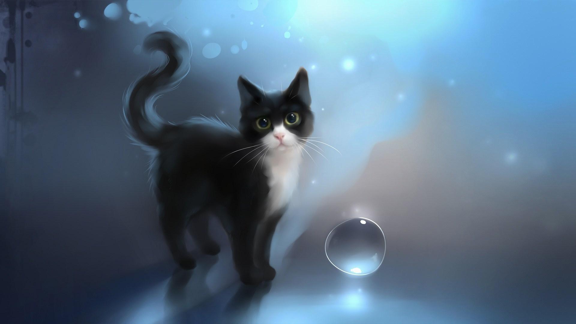 wallpaper.wiki-Download-Free-Anime-Cat-Wallpaper-PIC-