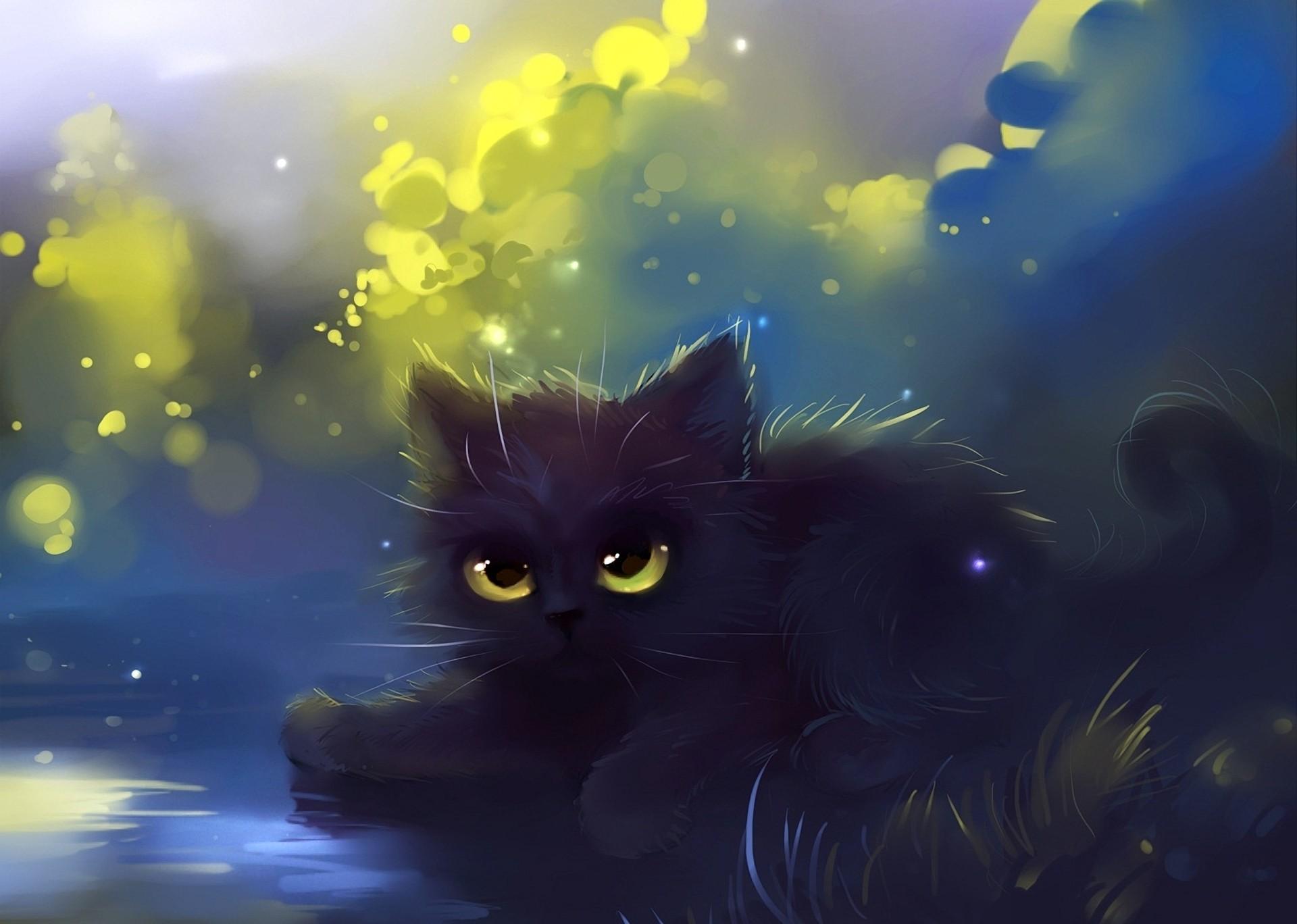 pin Drawn kittens cat wallpaper #3