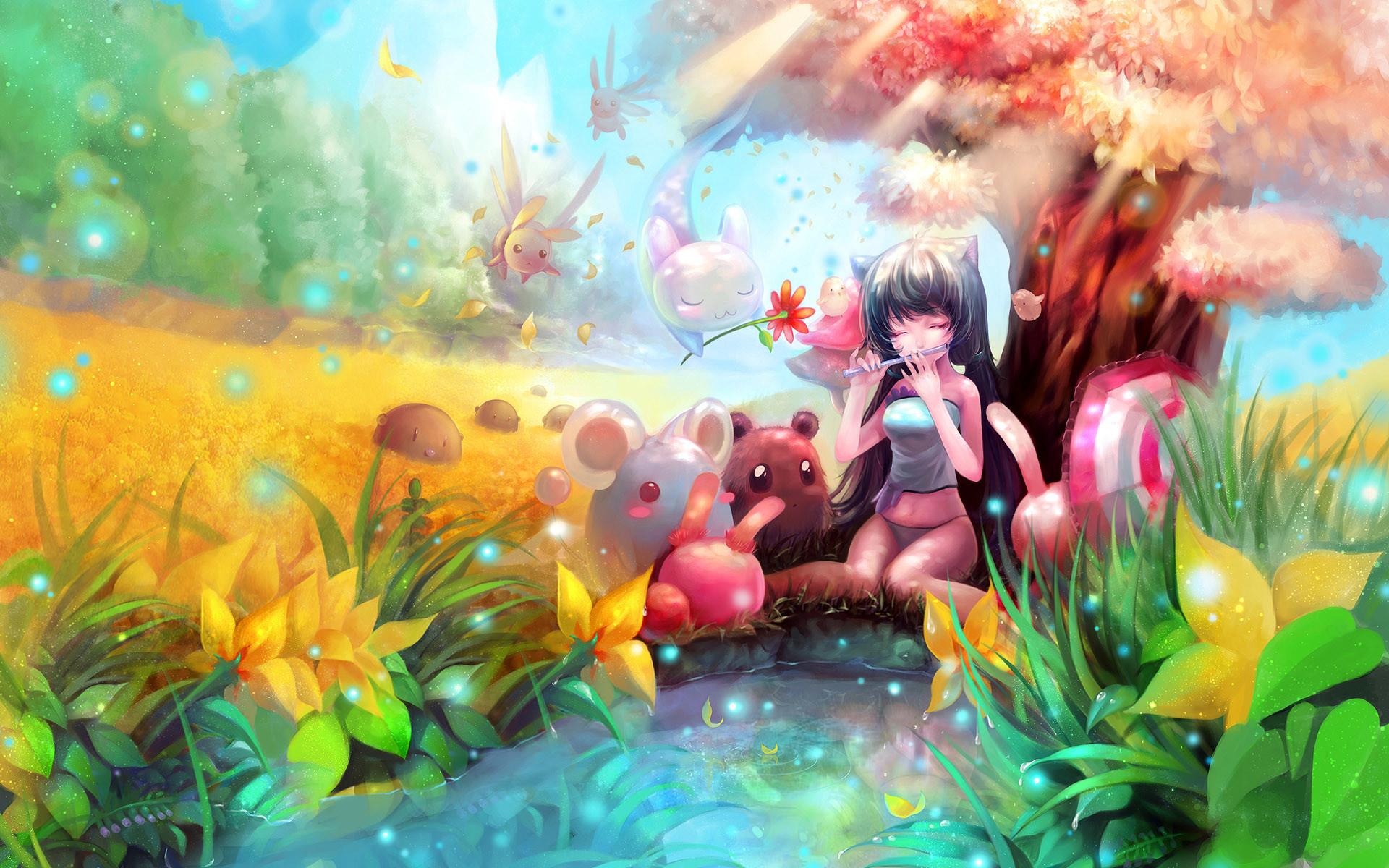 Image for Cute Anime Cat People Wallpaper Desktop Background