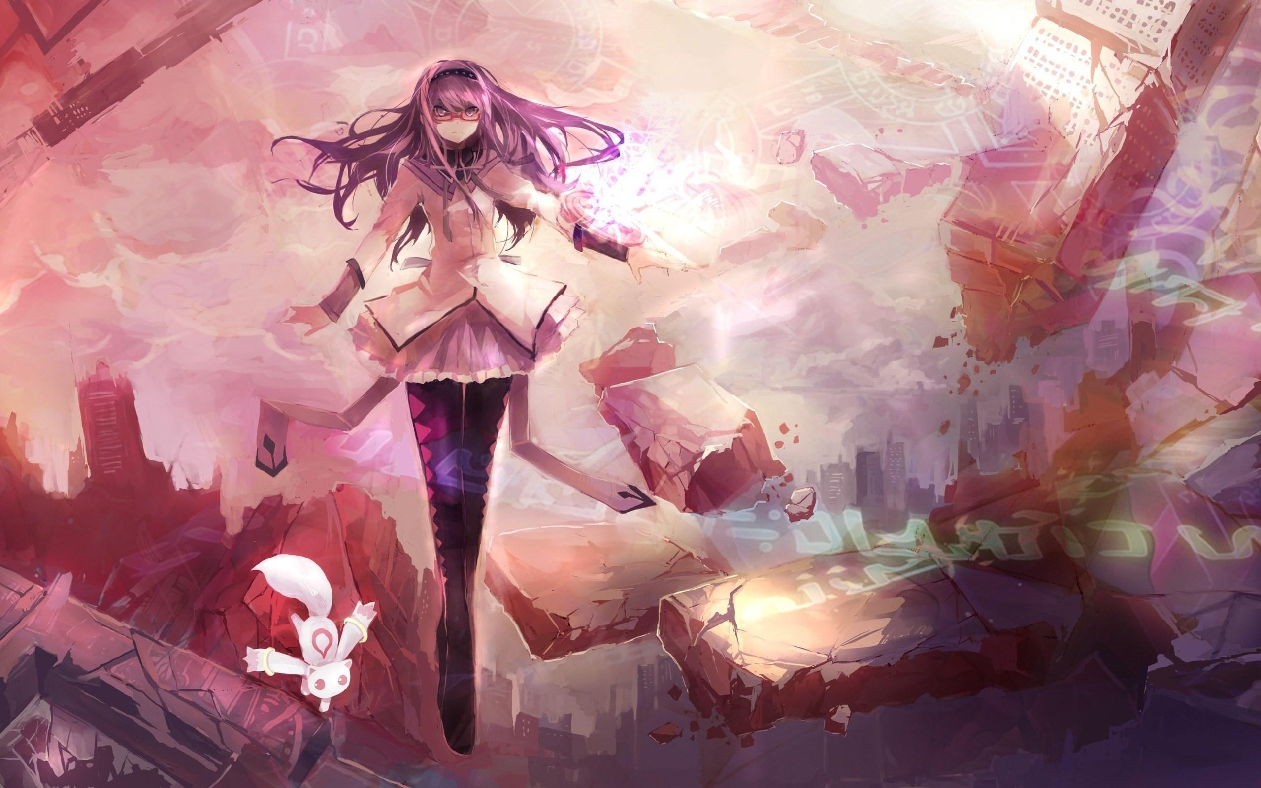 … anime-art-girl-cat-wallpaper-2560×1600
