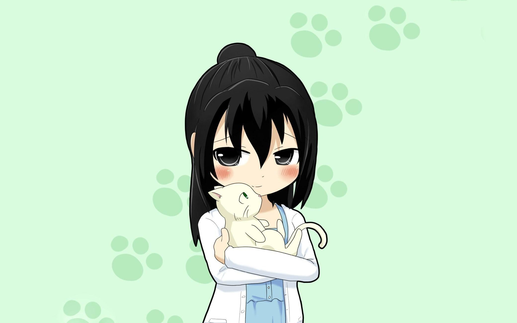 Cute Anime Kid With Cat Wallpaper – Free HD Wallpapers and HD .