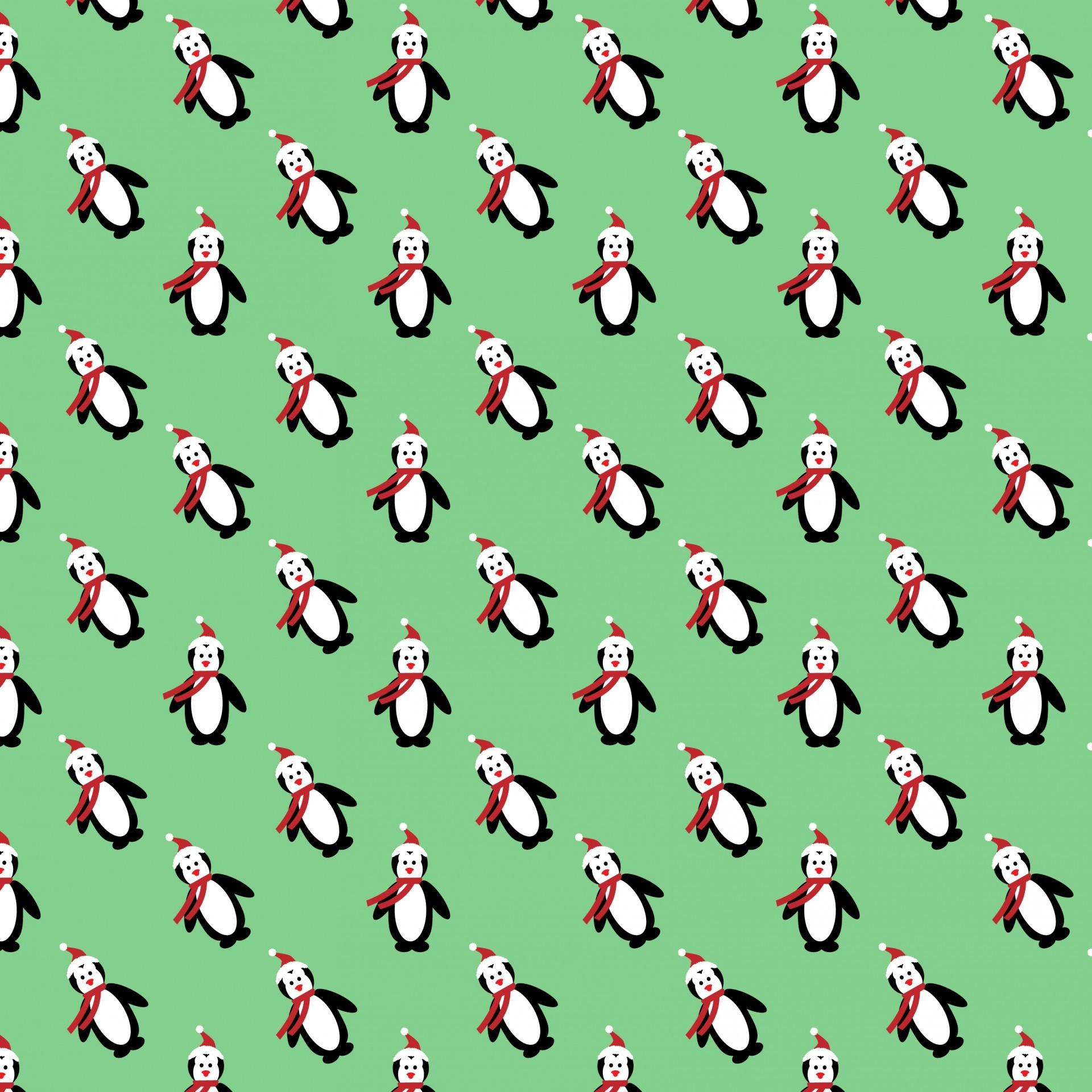 Christmas Penguin Background