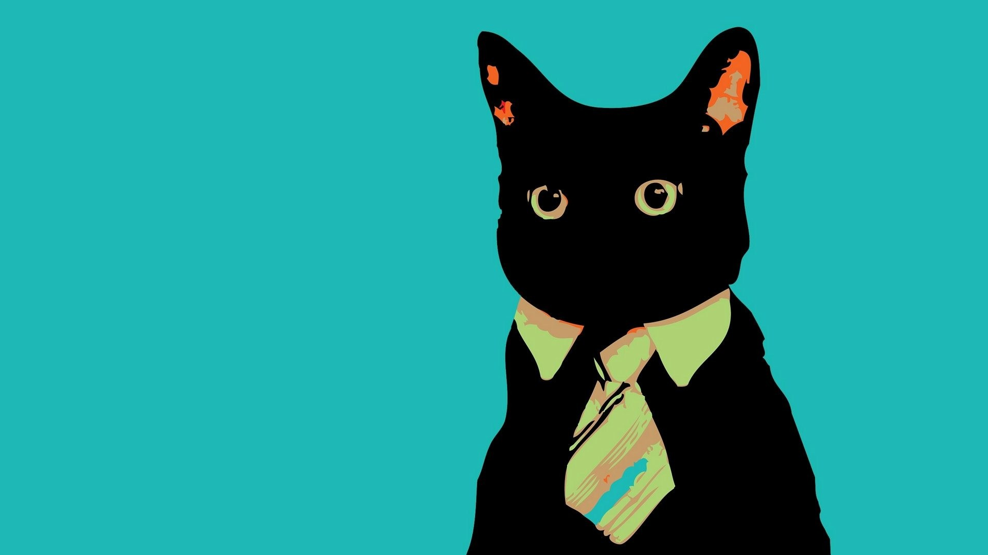 Black Cat Art HD Desktop Backgrounds, Wallpapers