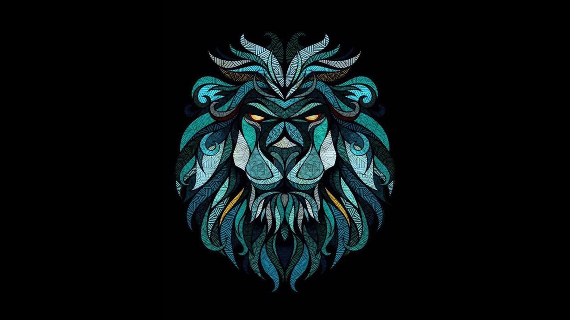Crystal Lion wallpaper