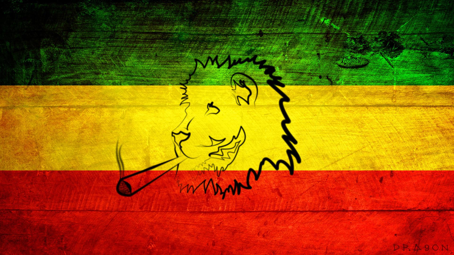 Rasta Lion With Dreads – wallpaper.