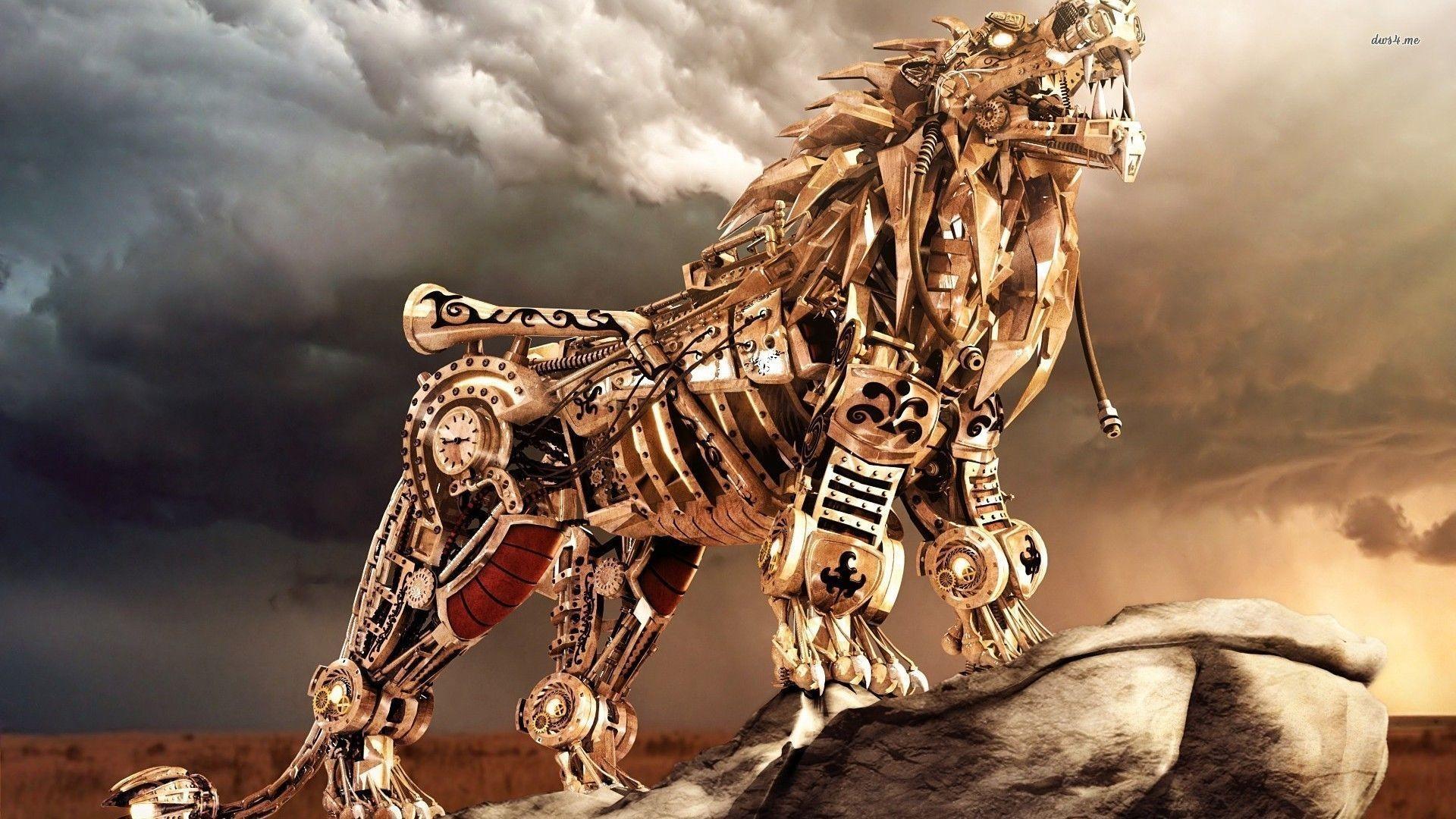 Robot lion wallpaper – Digital Art wallpapers – #11575