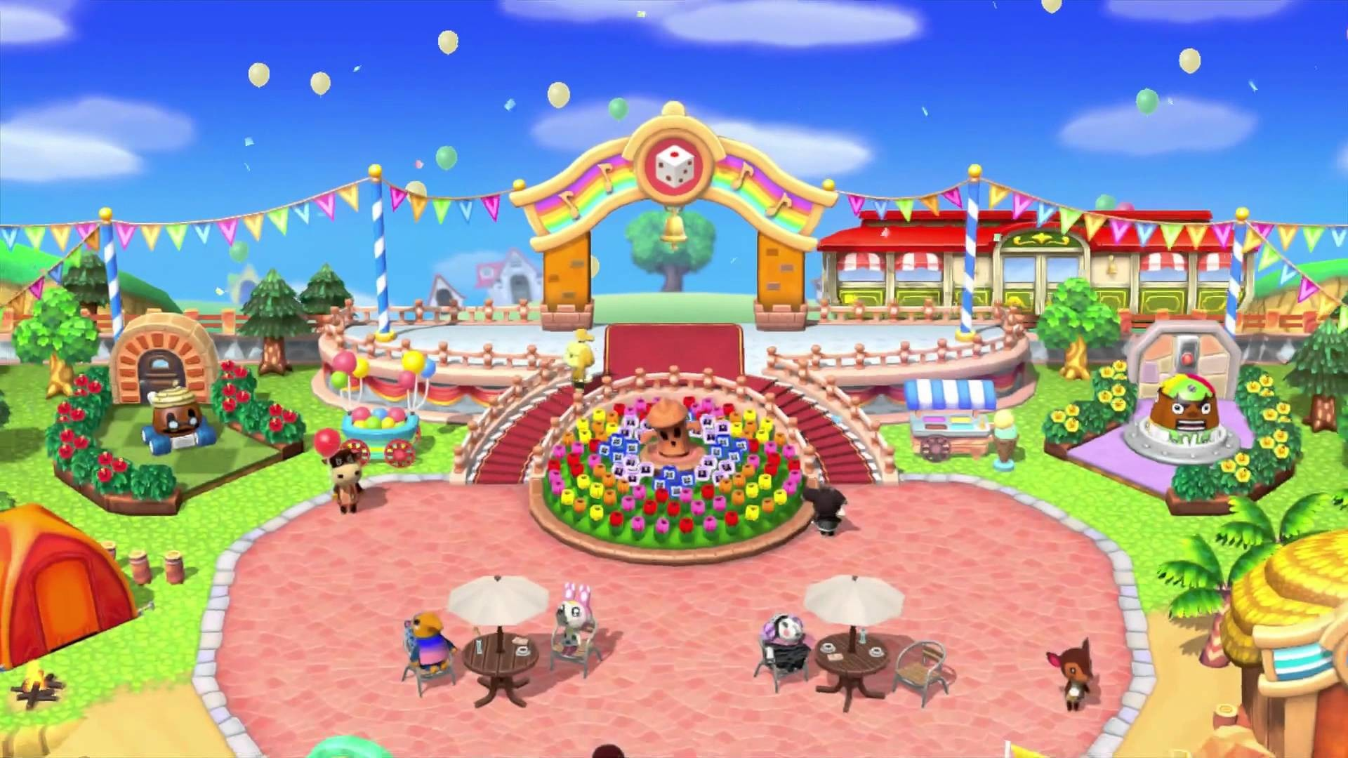 Animal Crossing: Amiibo Festival – Boot-up and plaza direct feed – YouTube