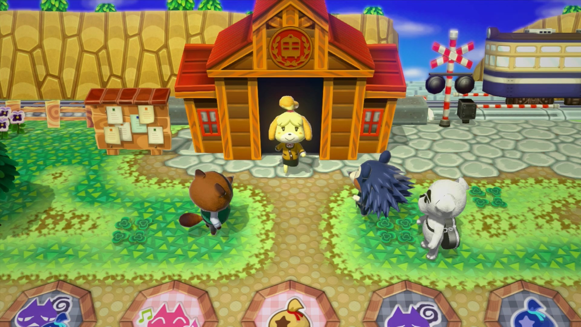 … Mabel, Reese, Cyrus, Tom Nook, K.K. Slider, Isabelle, Mabel, Lottie and  Digby – When you land on a space, a micro-episode of Animal Crossing happens