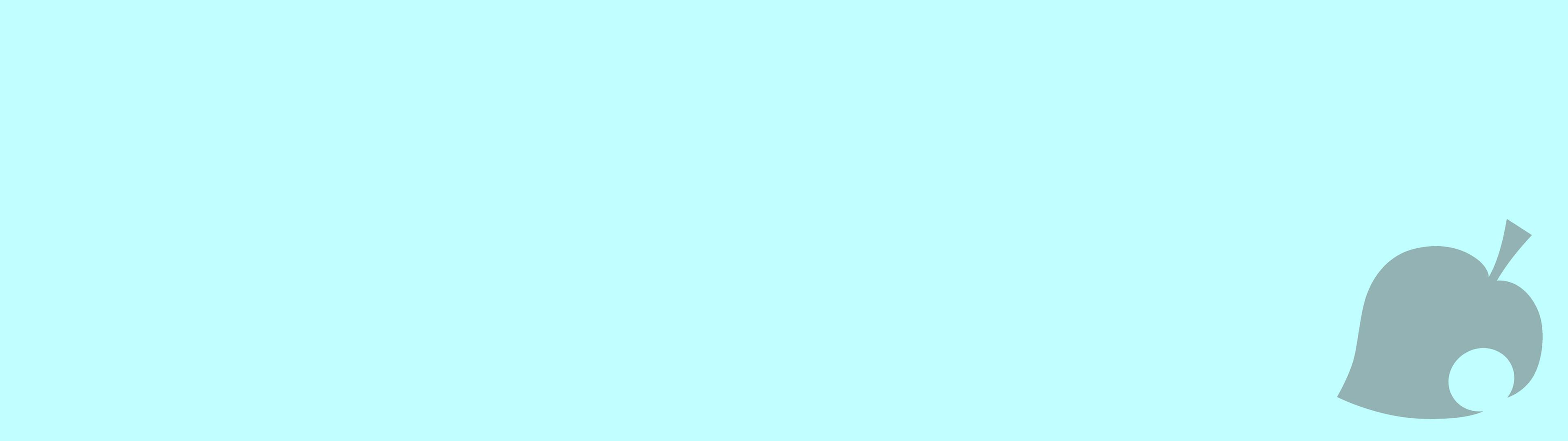 General Animal Crossing New Leaf Animal Crossing New Leaf logo  minimalism blue light blue dual