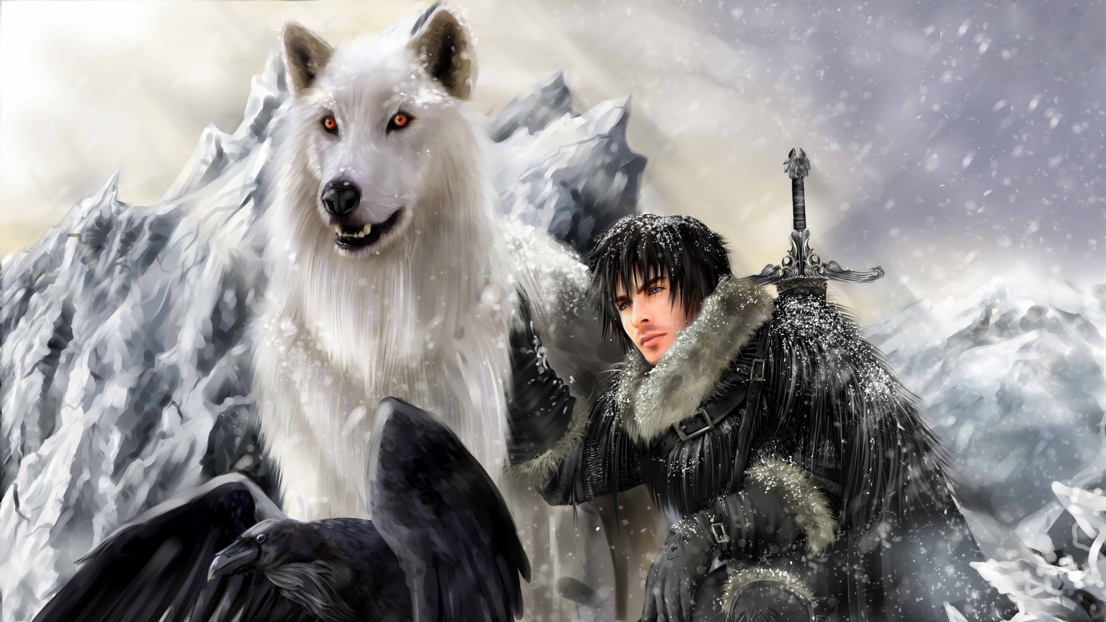 Wallpaper the song of ice and fire, game of thrones, jon snow,