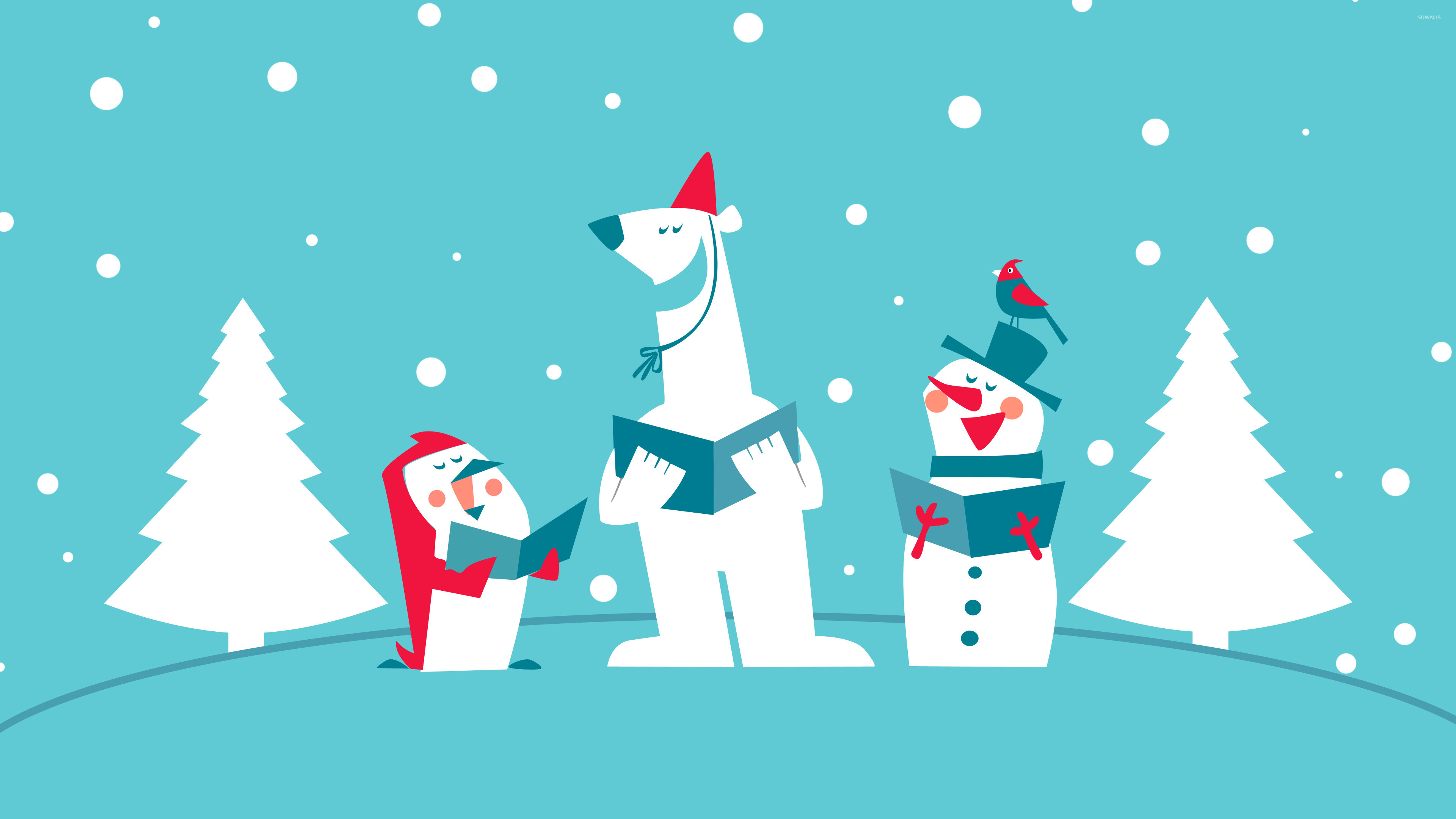 Funny Christmas carol group wallpaper jpg