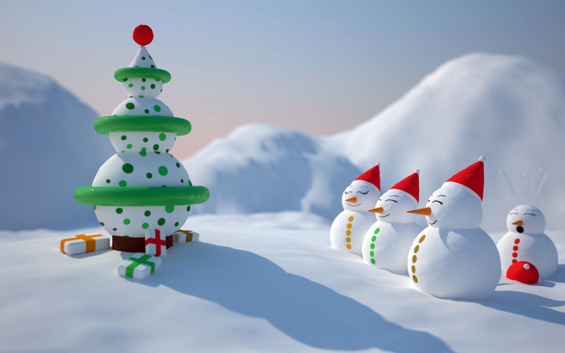 Christmas-snowman-wallpaper-HD