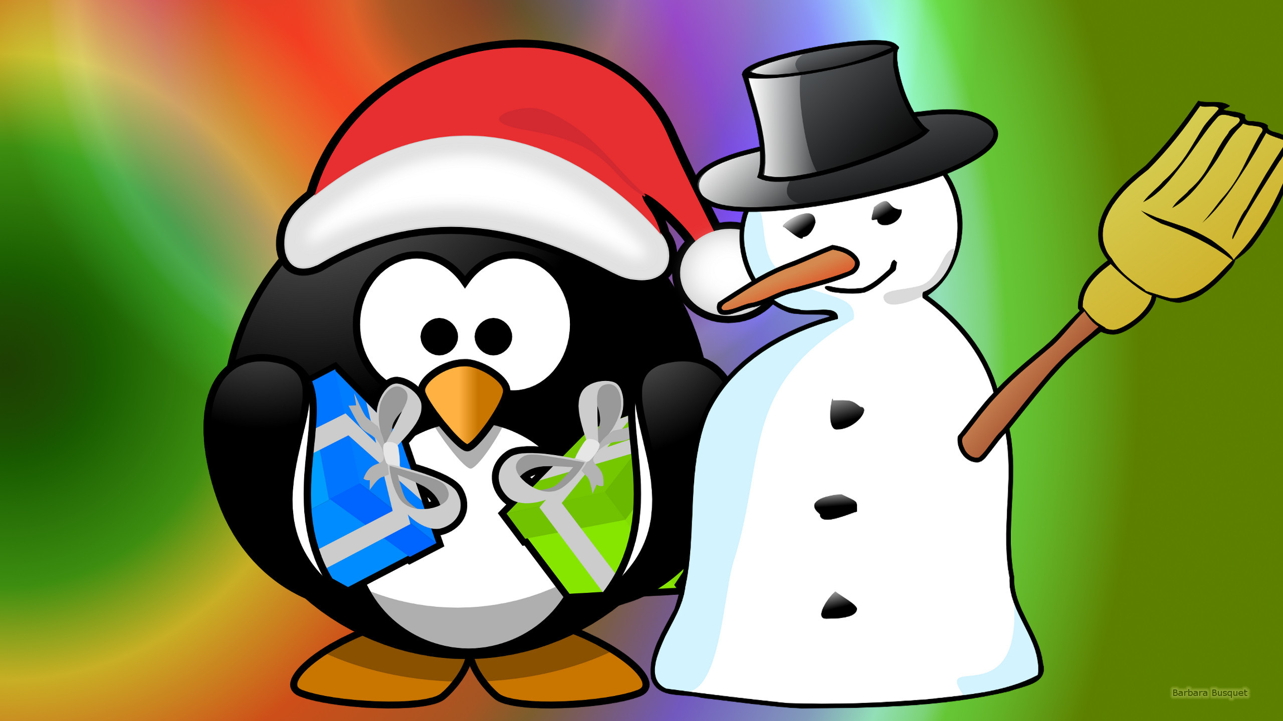 Penguin christmas wallpaper – photo#19
